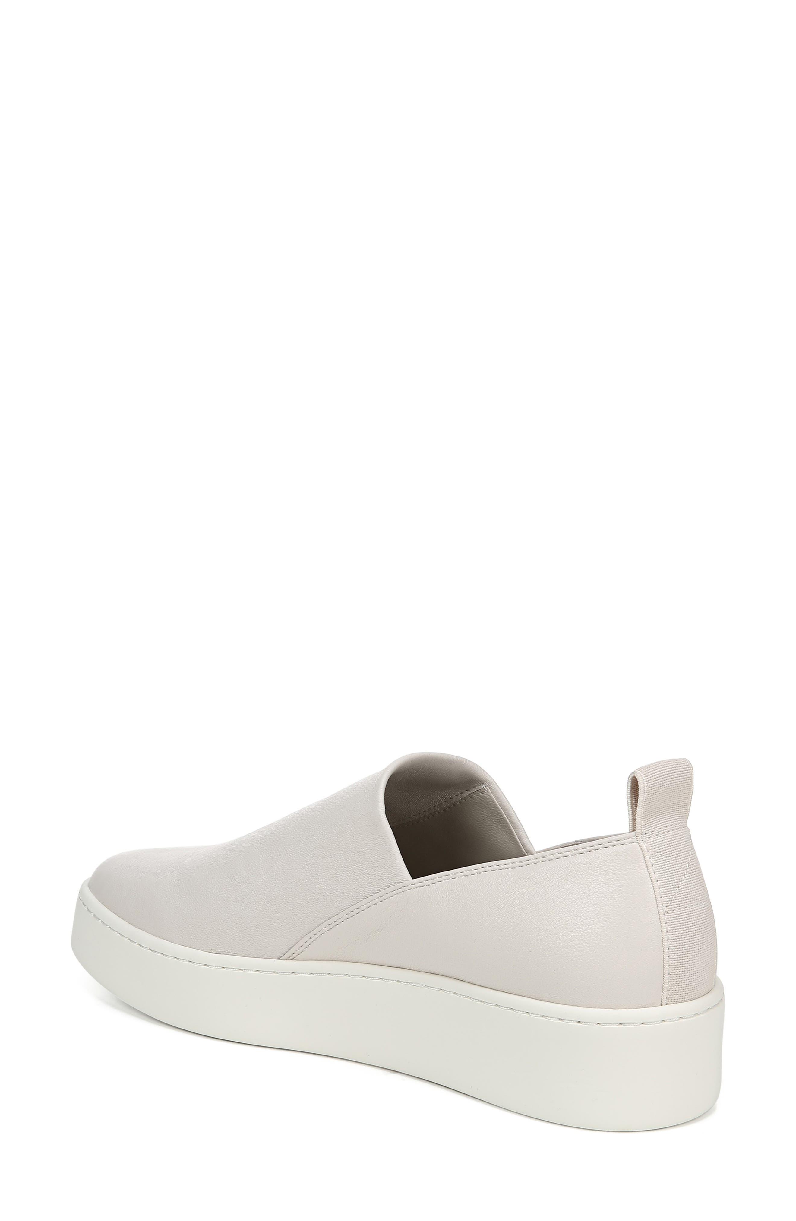 VINCE, Saxon Slip-On Sneaker, Alternate thumbnail 2, color, BONE THIN STRETCH NAPPA