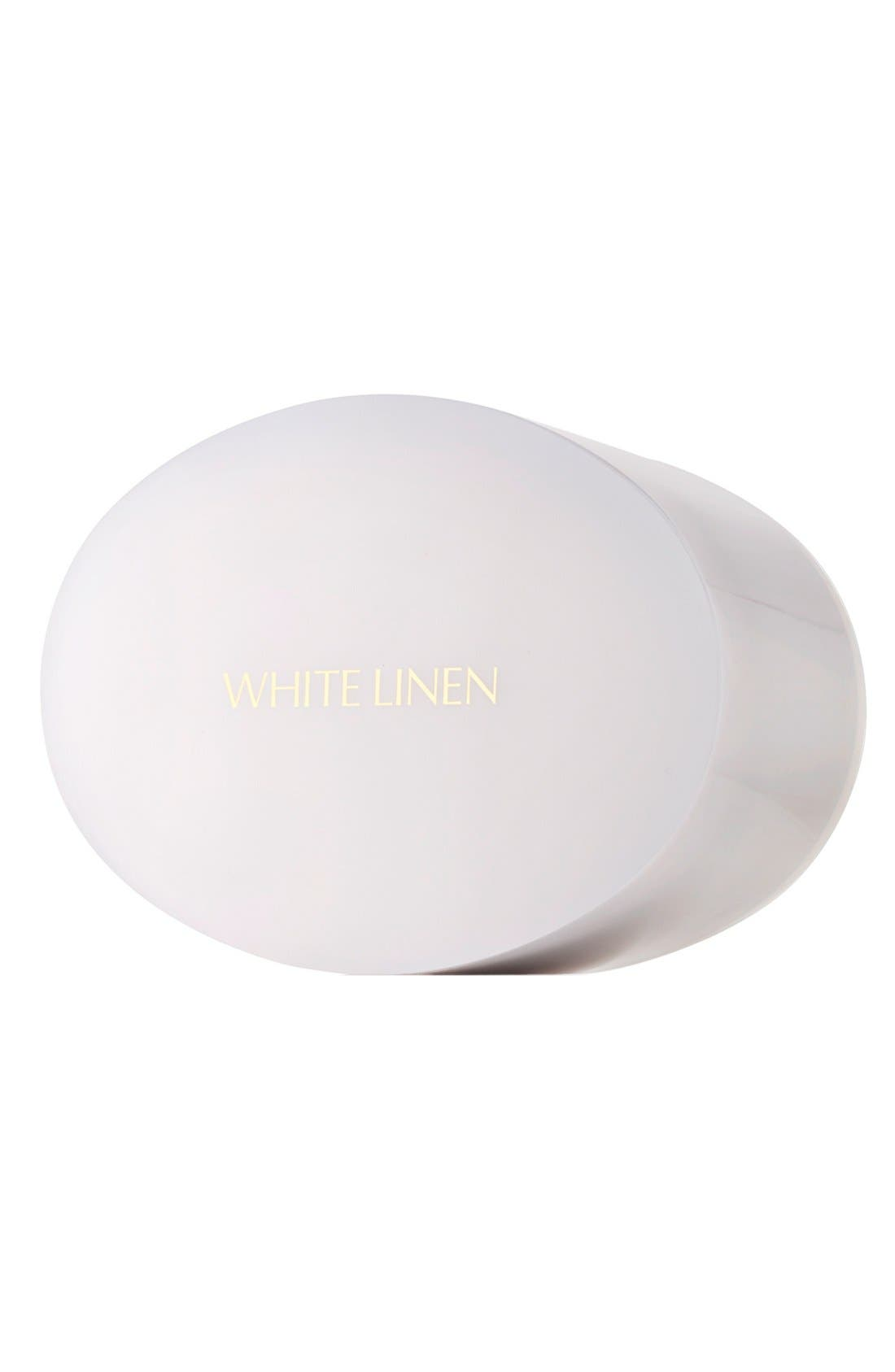 ESTÉE LAUDER, White Linen Perfumed Body Powder with Puff, Main thumbnail 1, color, 000