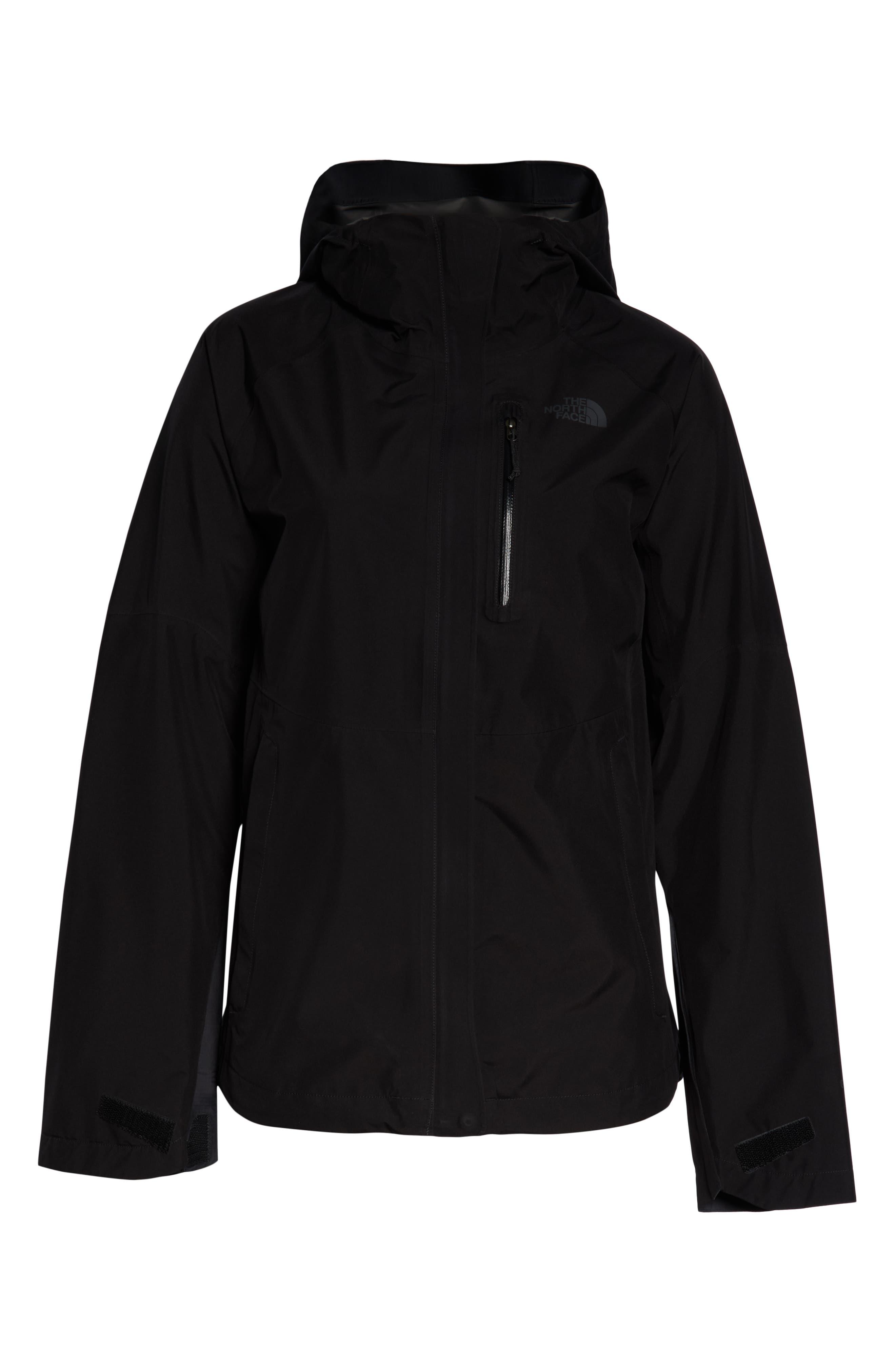 THE NORTH FACE, Dryzzle Hooded Rain Jacket, Alternate thumbnail 6, color, TNF BLACK