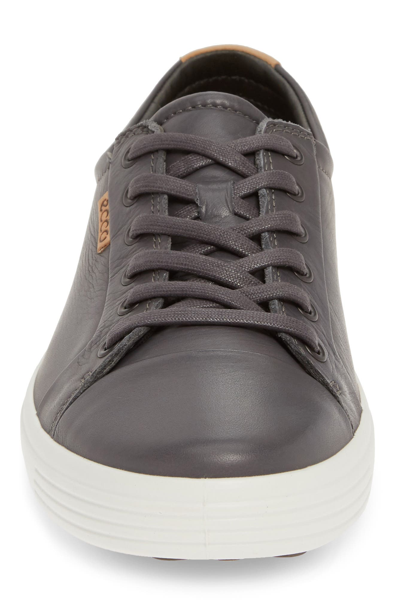 ECCO, Soft VII Lace-Up Sneaker, Alternate thumbnail 4, color, GREY DRAGO