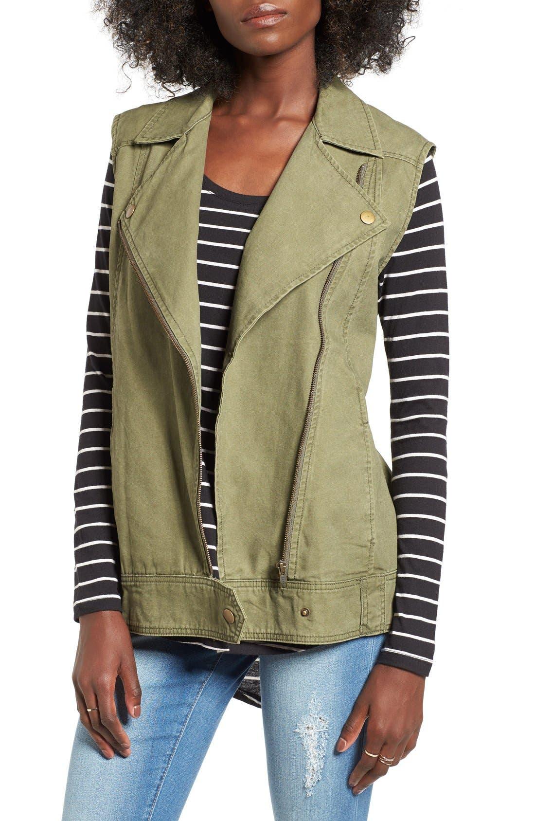 BP., Cotton Moto Vest, Main thumbnail 1, color, 312