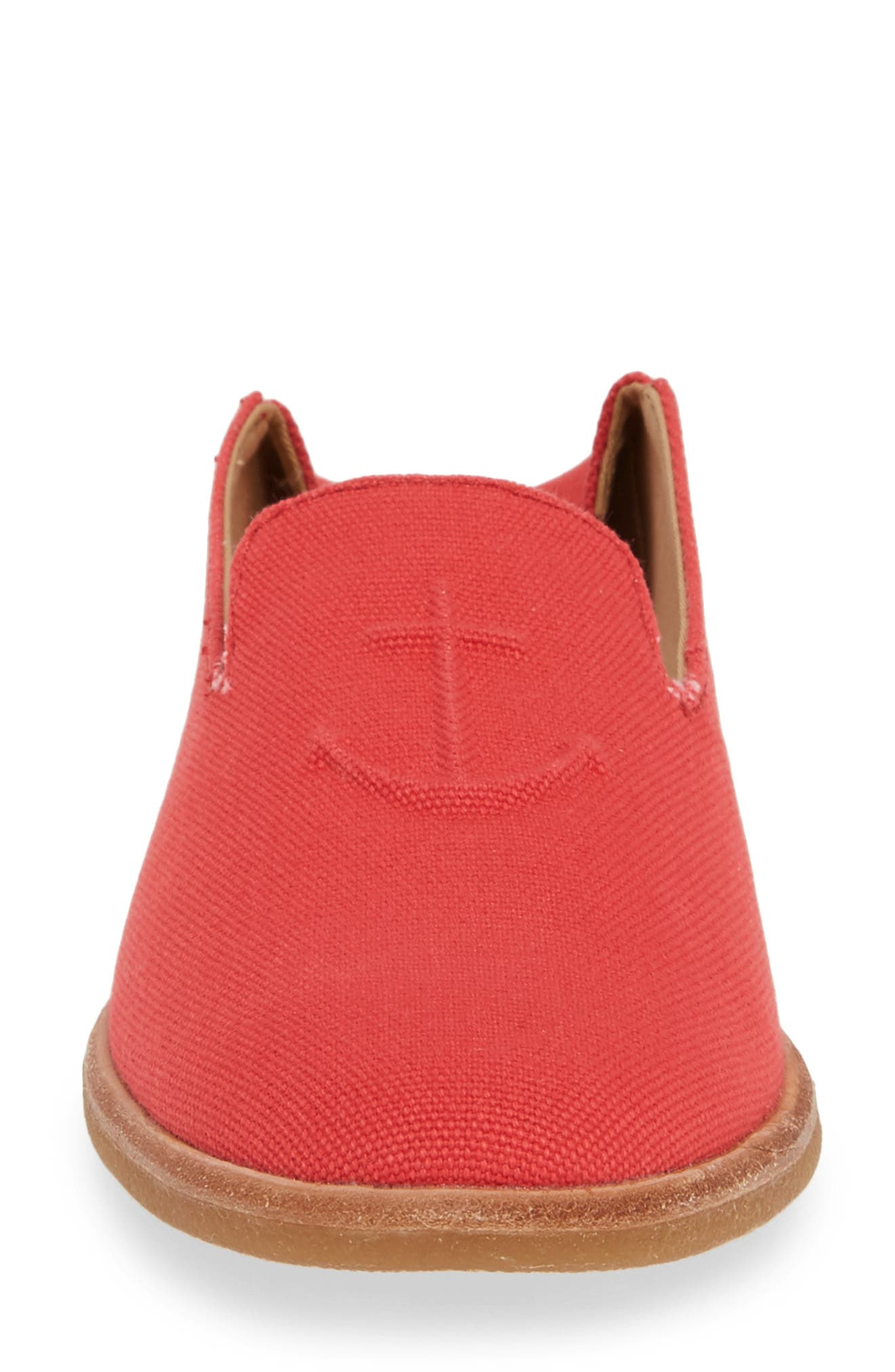 SPERRY, Seaport Levy Flat, Alternate thumbnail 5, color, RED CANVAS