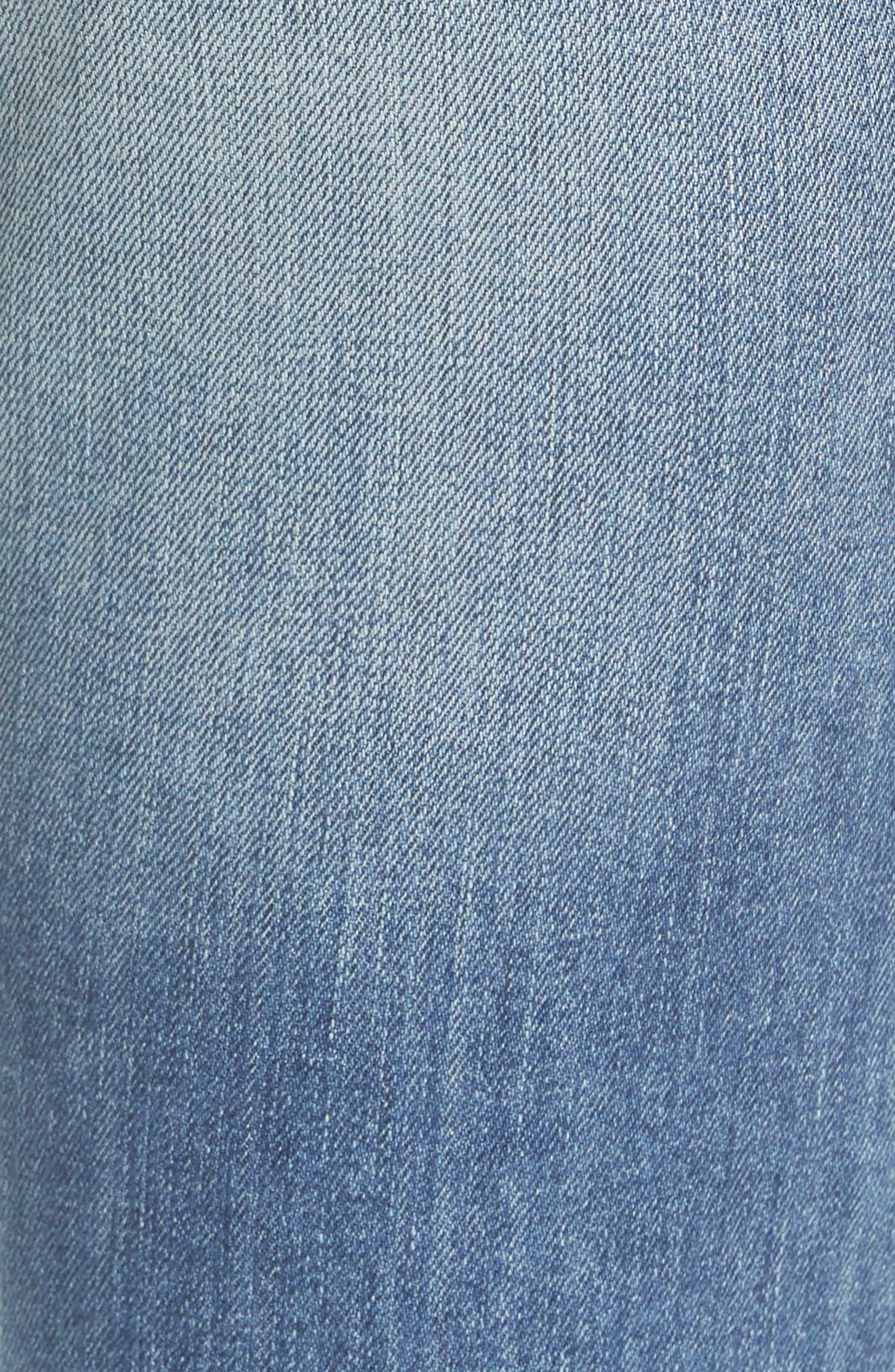 NILI LOTAN, Crop French Military Jeans, Alternate thumbnail 6, color, DUANE WASH