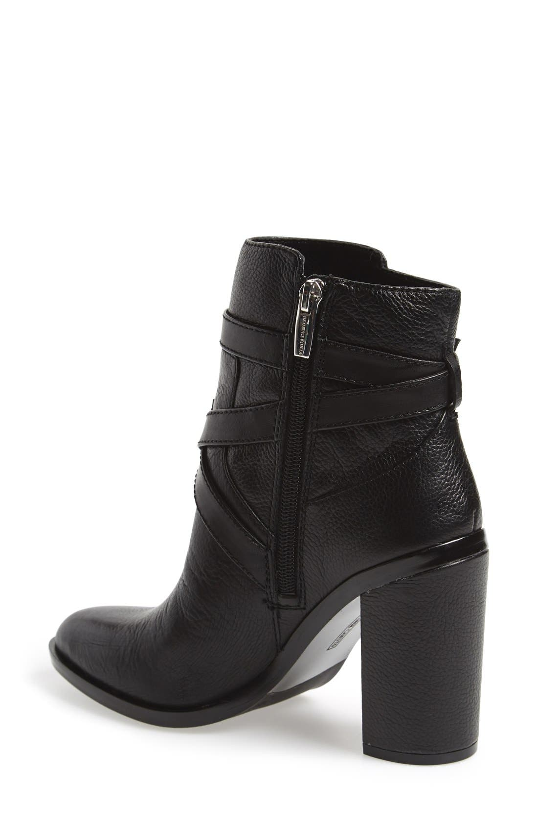VINCE CAMUTO, 'Gravell' Belted Boot, Alternate thumbnail 2, color, 001