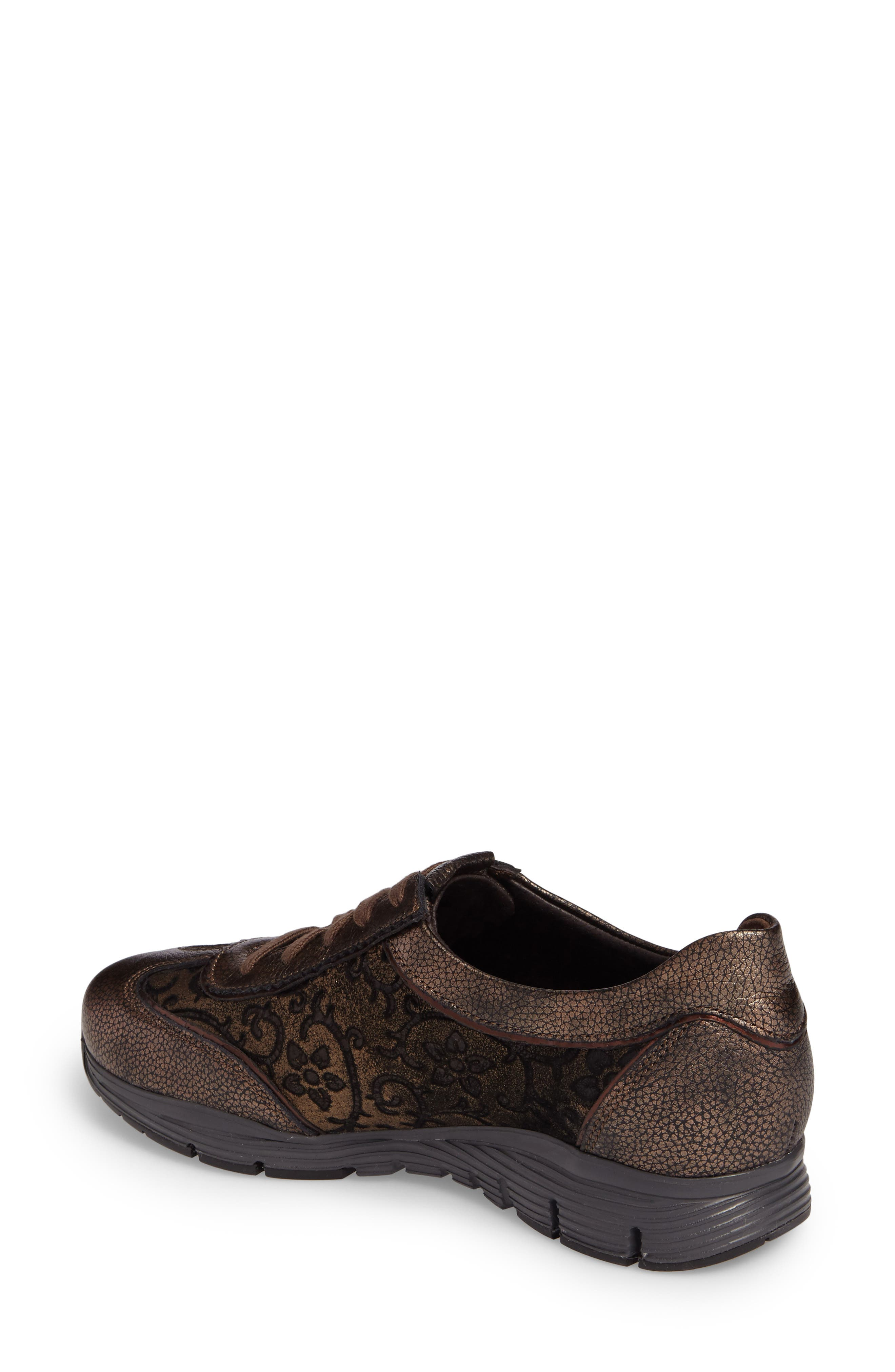 MEPHISTO, 'Yael' Soft-Air Sneaker, Alternate thumbnail 2, color, COPPER LEATHER