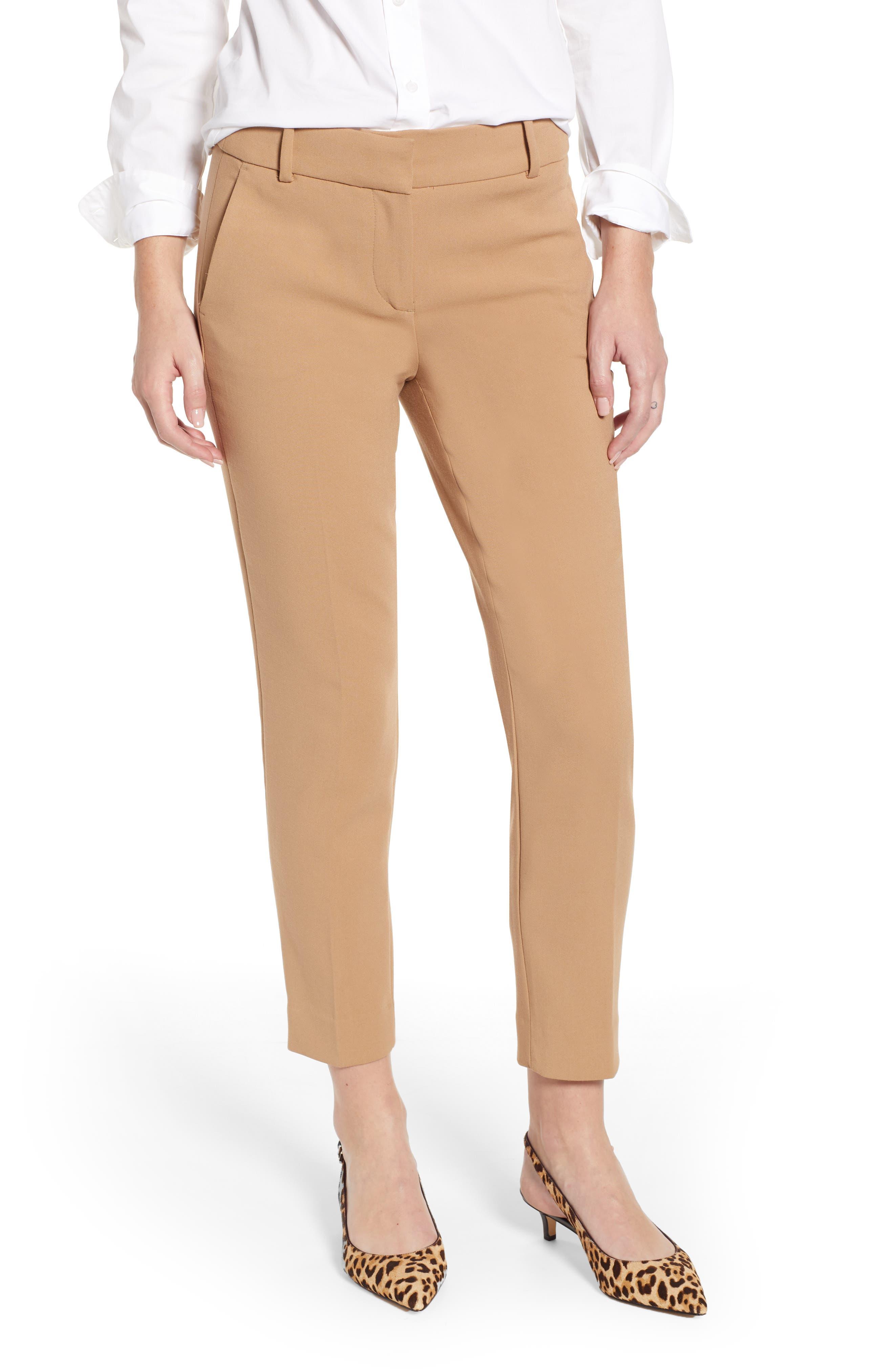 J.CREW Cameron Four Season Crop Pants, Main, color, HEATHER SADDLE