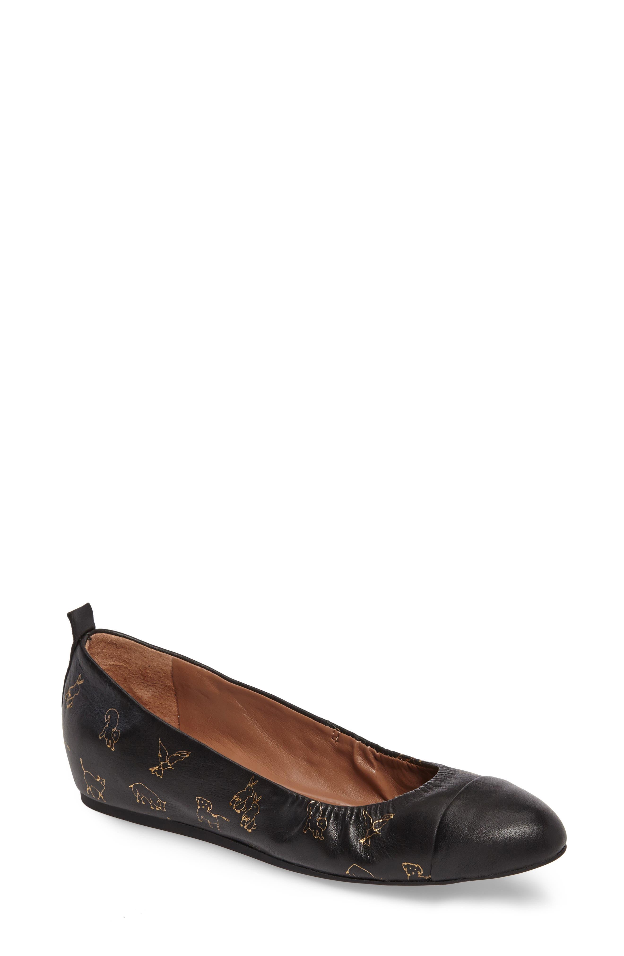 ED ELLEN DEGENERES Lilliane Cap Toe Ballet Flat, Main, color, 005