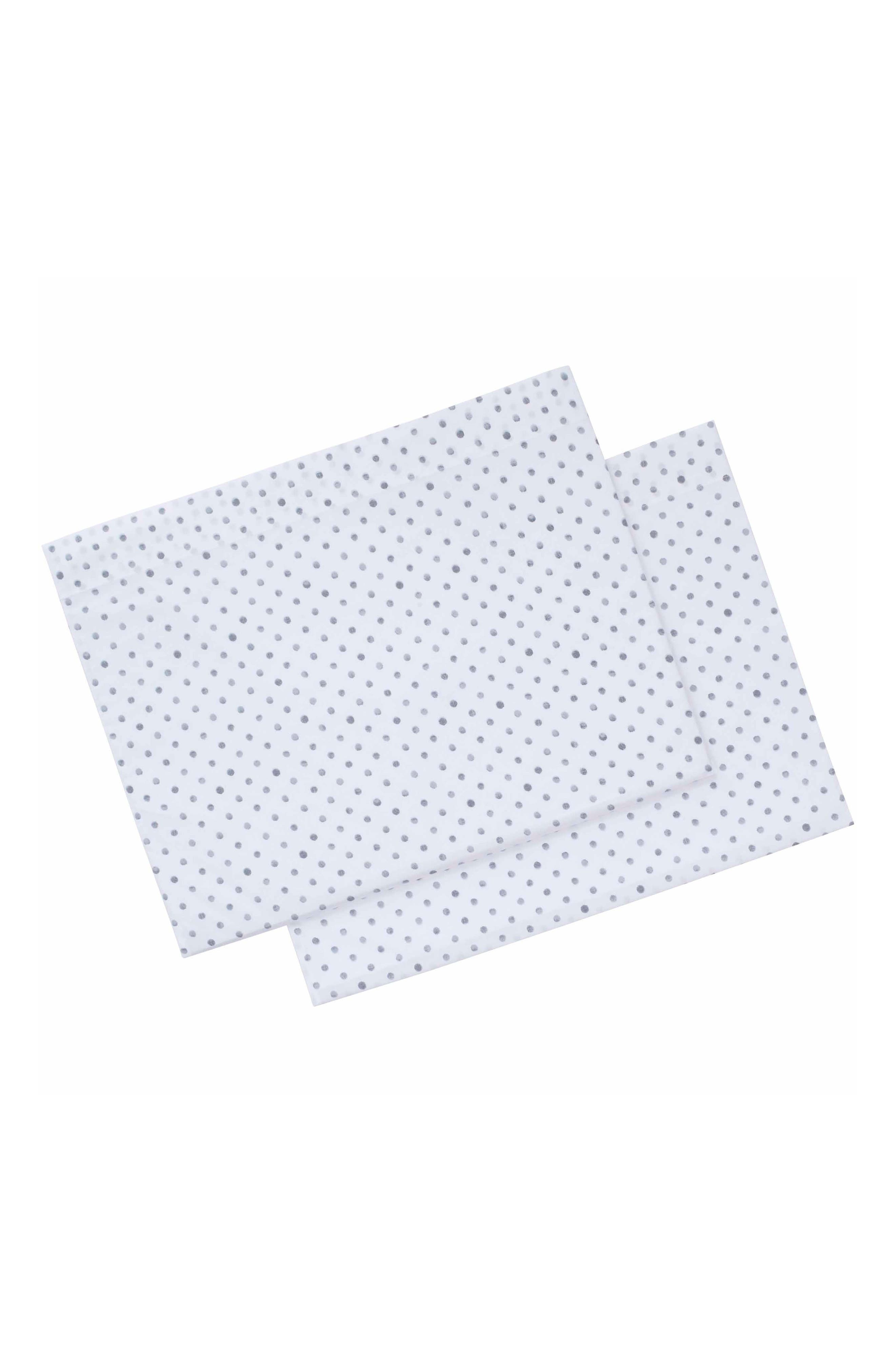 ED ELLEN DEGENERES Watercolor Dots Set of 2 Pillowcases, Main, color, GREY