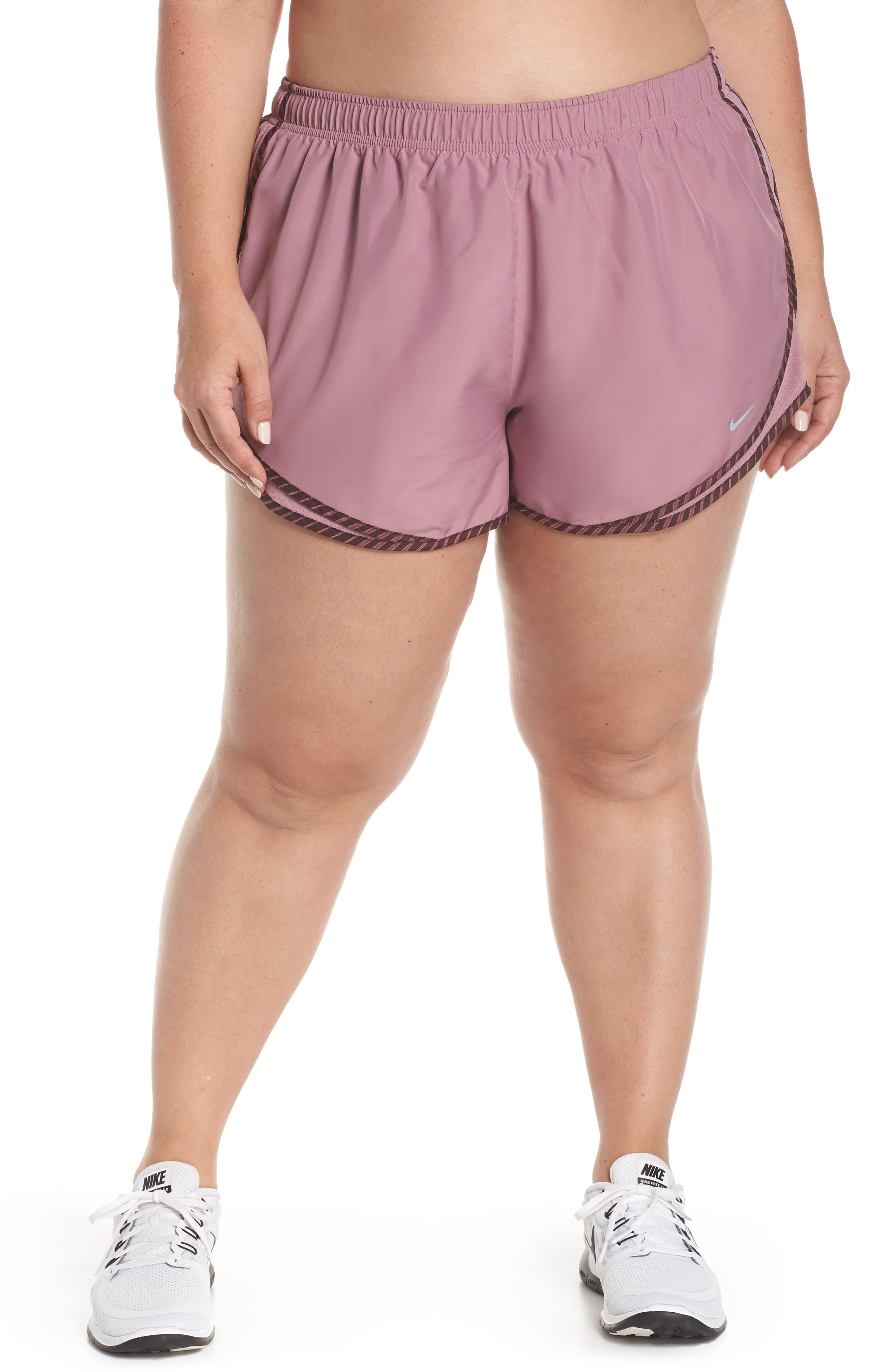 NIKE, Dry Tempo High Rise Running Shorts, Main thumbnail 1, color, PLUM/ EL DORADO/ WOLF GREY