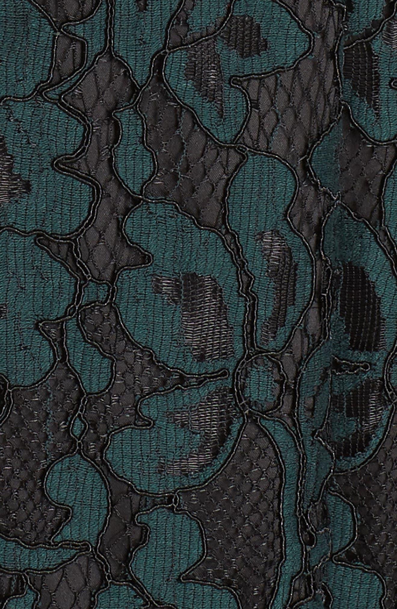 ELIZA J, Lace V-Neck Fit & Flare Dress, Alternate thumbnail 6, color, 310
