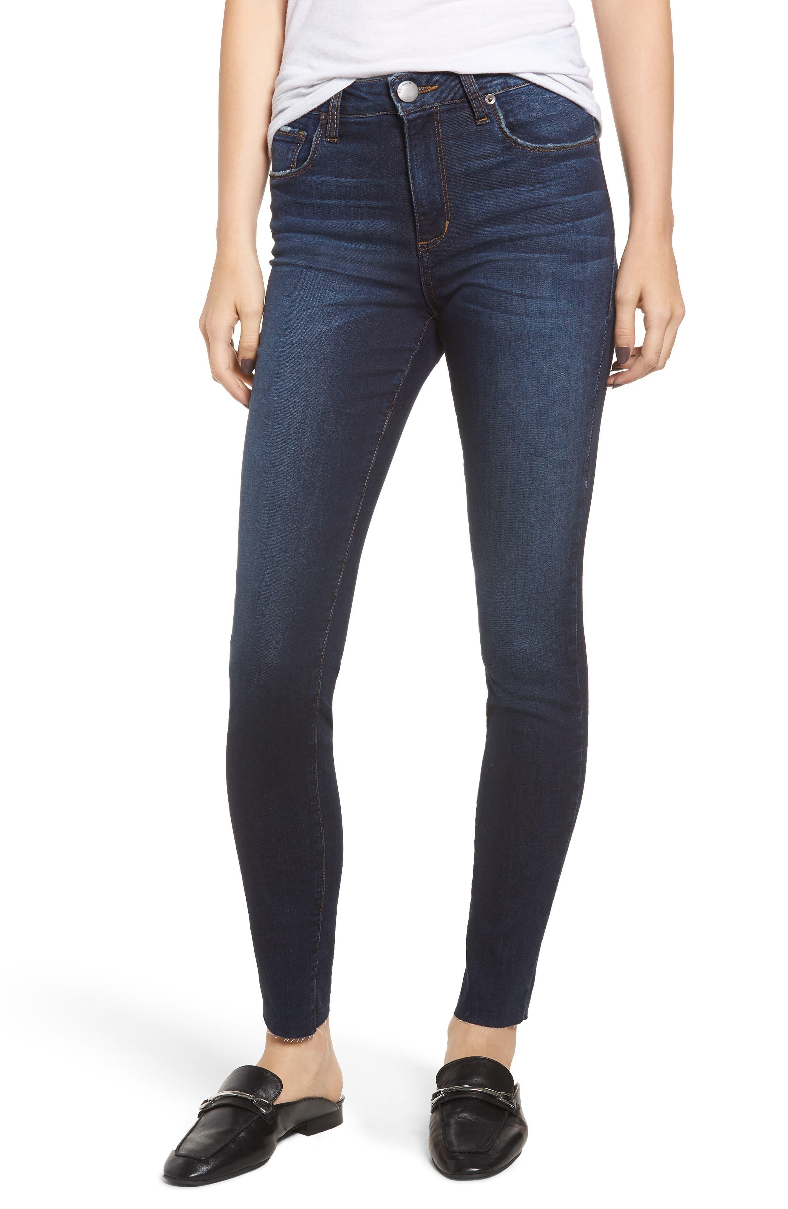 STS BLUE Ellie High Waist Ankle Skinny Jeans, Main, color, DENLEY