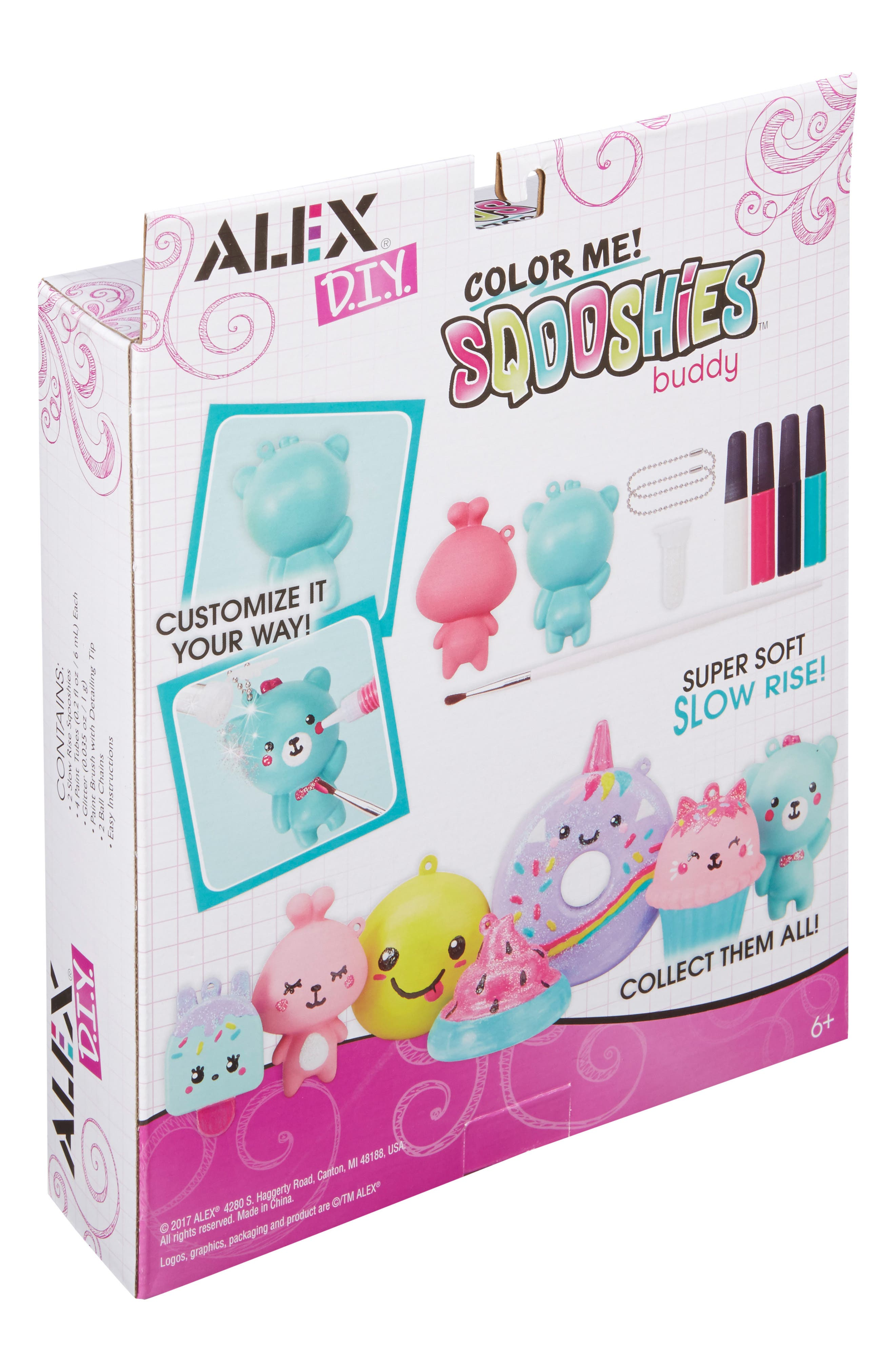 ALEX<SUP>®</SUP> TOYS, DIY Color Me Sqooshies - Buddy, Alternate thumbnail 6, color, 960