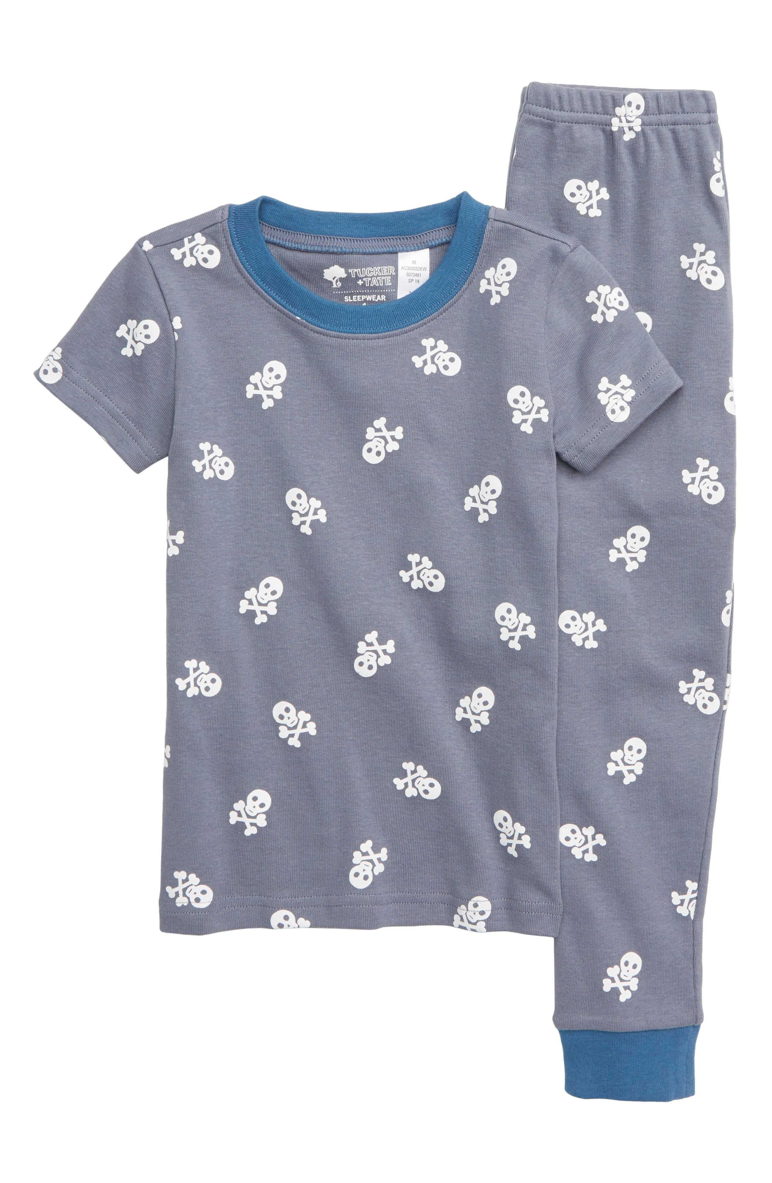 Boys Tucker  Tate TwoPiece Fitted Pajamas Size 10  Blue