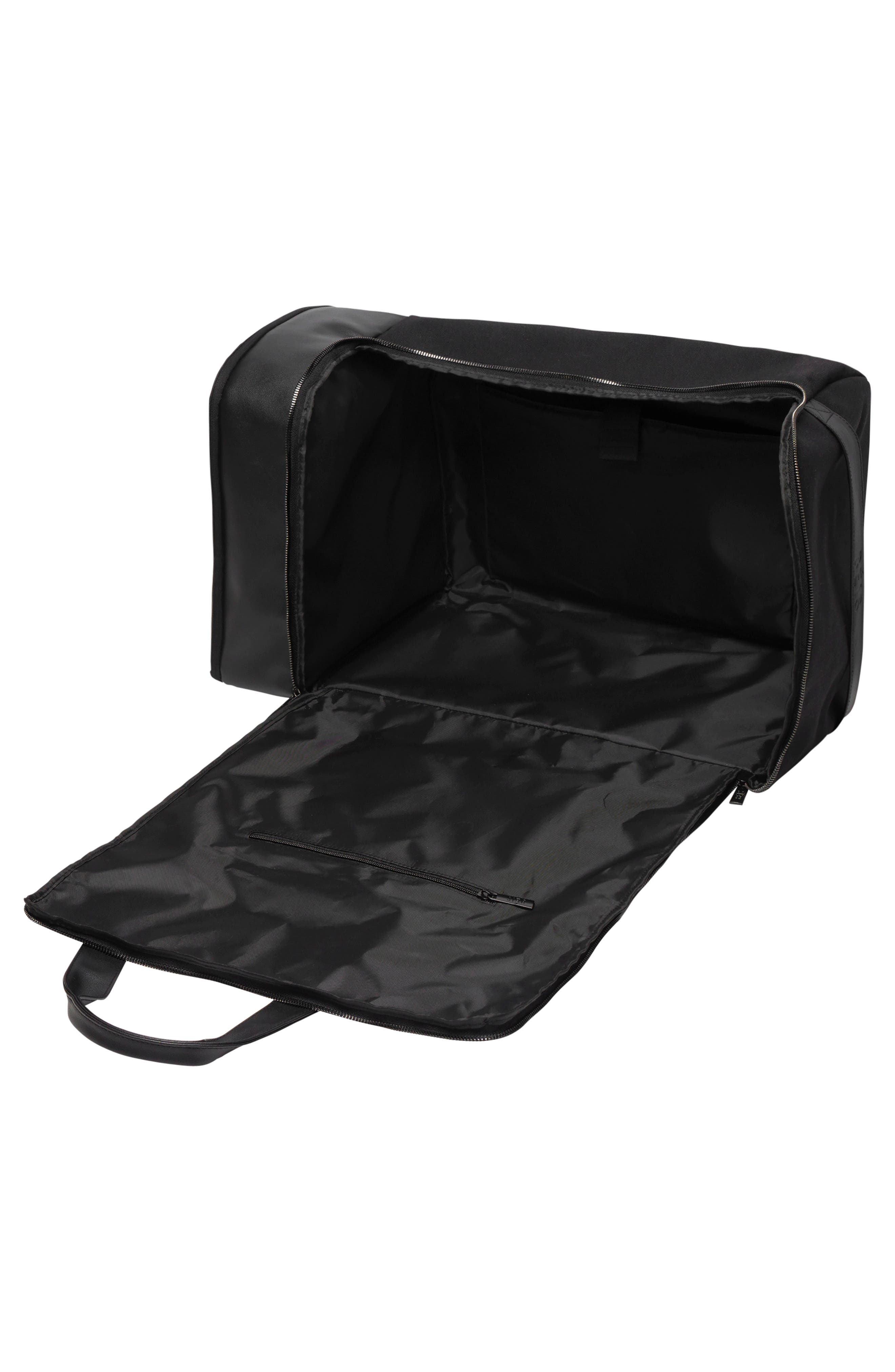 BÉIS, Travel Multi Function Duffle Bag, Alternate thumbnail 4, color, BLACK