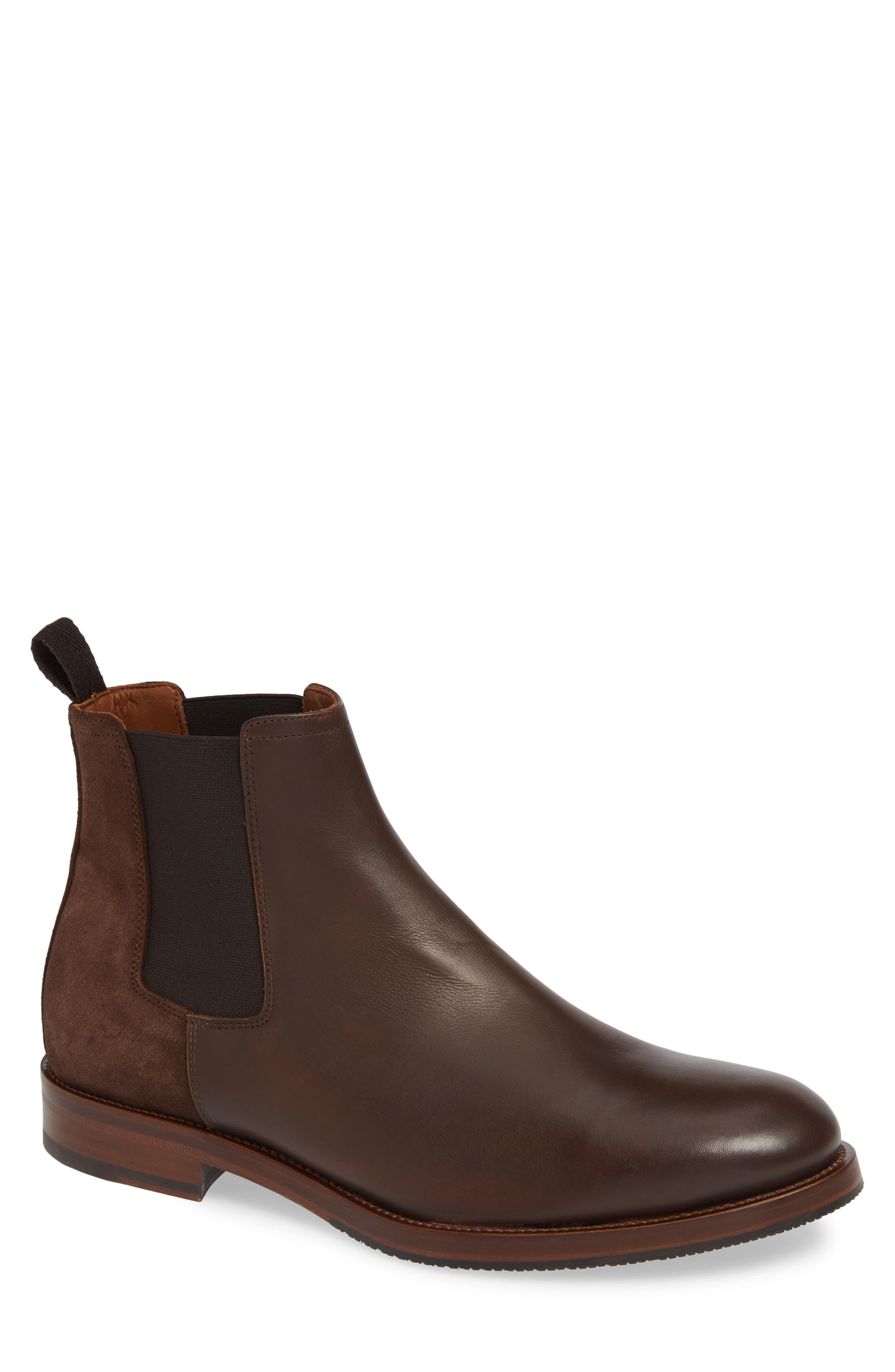 Aquatalia Giancarlo Weatherproof Chelsea Boot- Brown