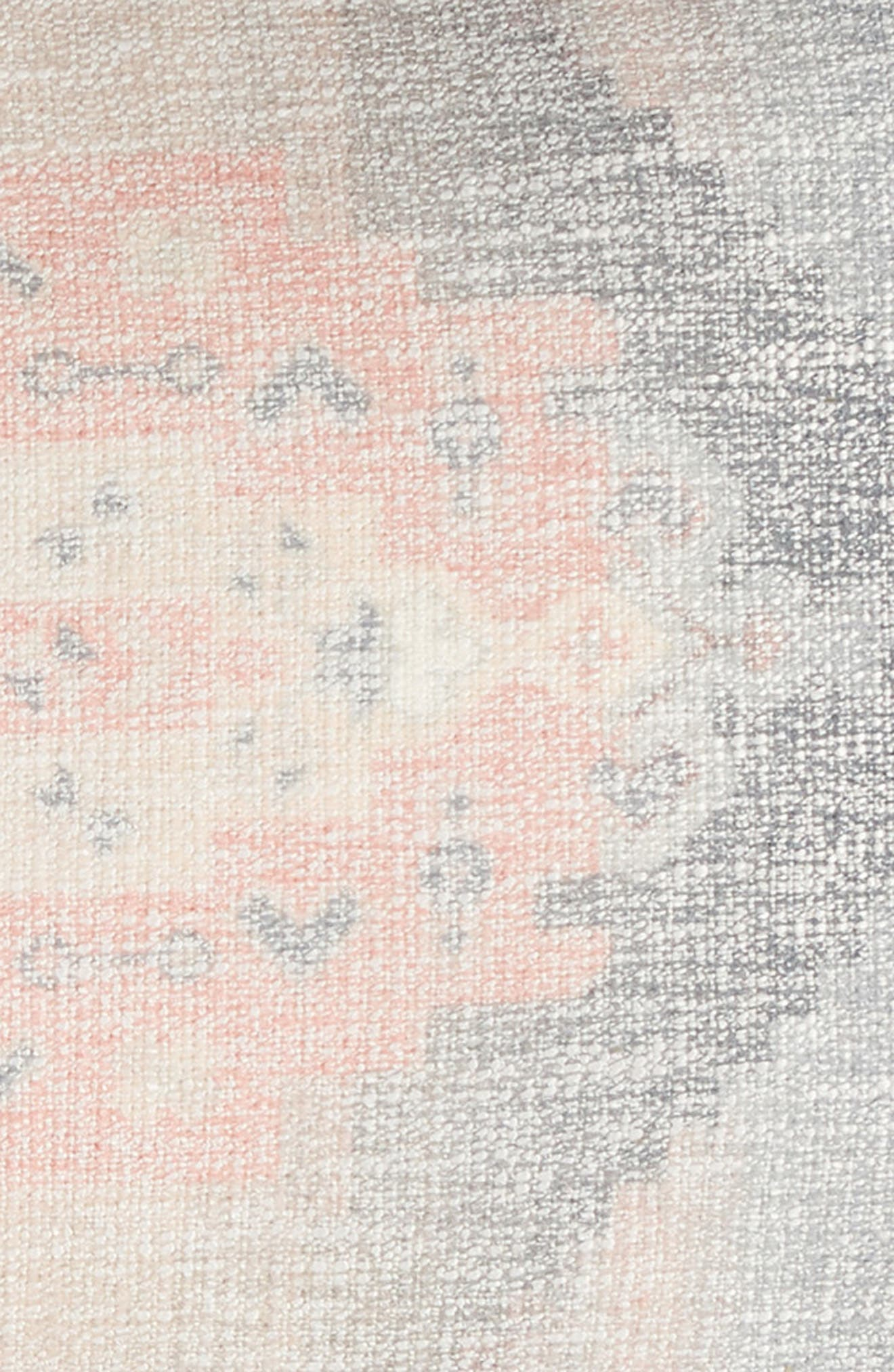NORDSTROM AT HOME, Kilim Shine Accent Pillow, Alternate thumbnail 3, color, PINK LINEN MULTI