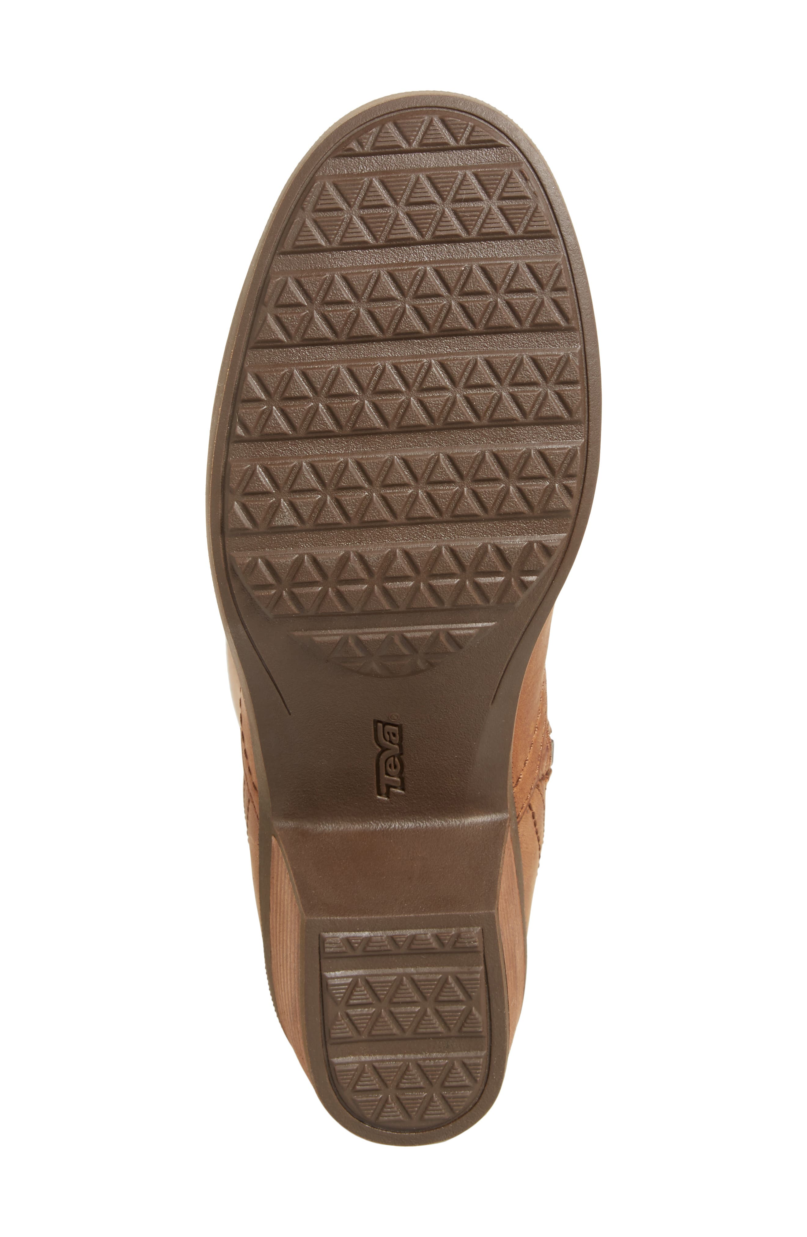 TEVA, Foxy Waterproof Boot, Alternate thumbnail 6, color, BROWN LEATHER
