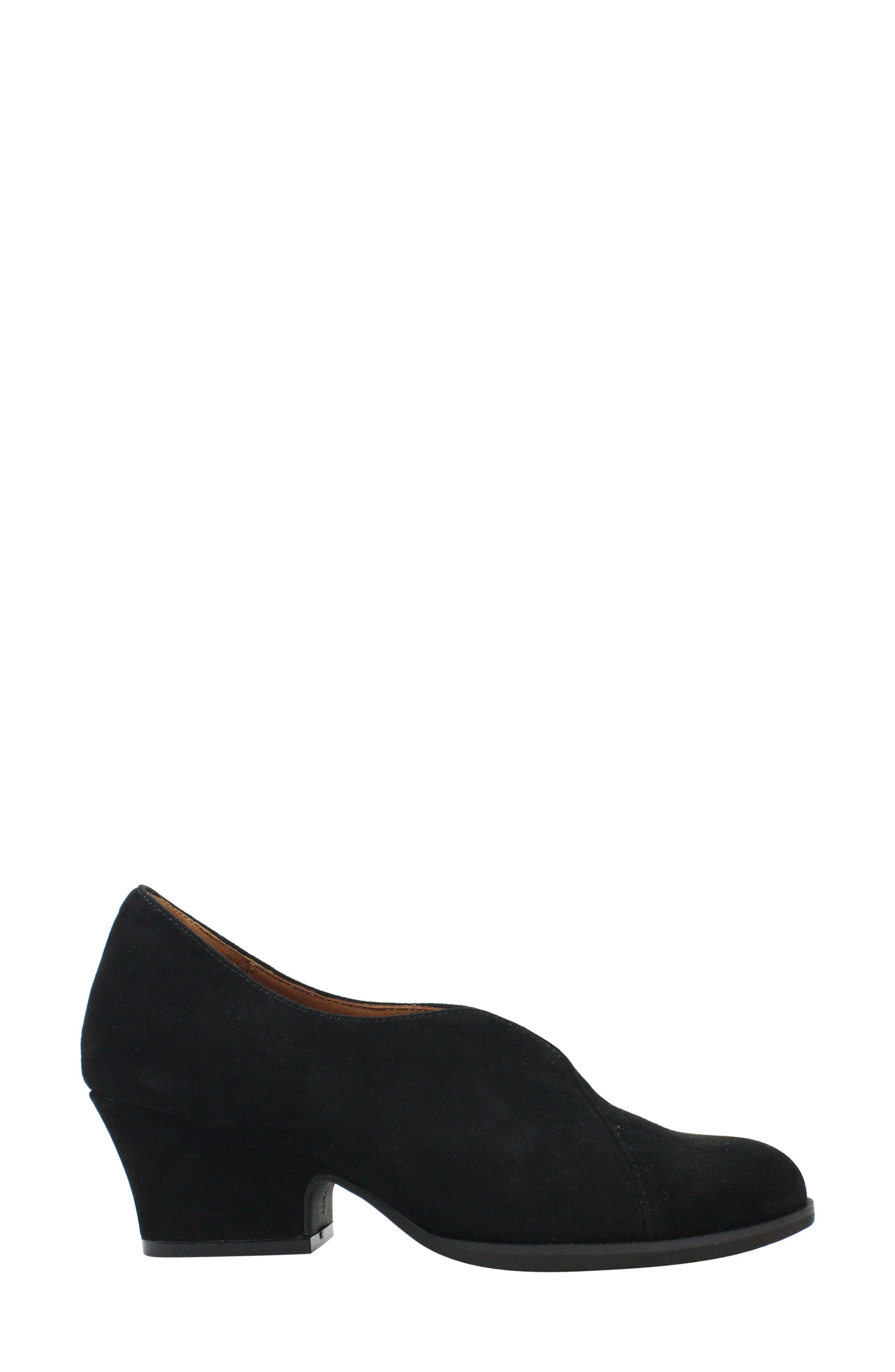 L'AMOUR DES PIEDS, Jessica Bootie, Alternate thumbnail 3, color, BLACK SUEDE