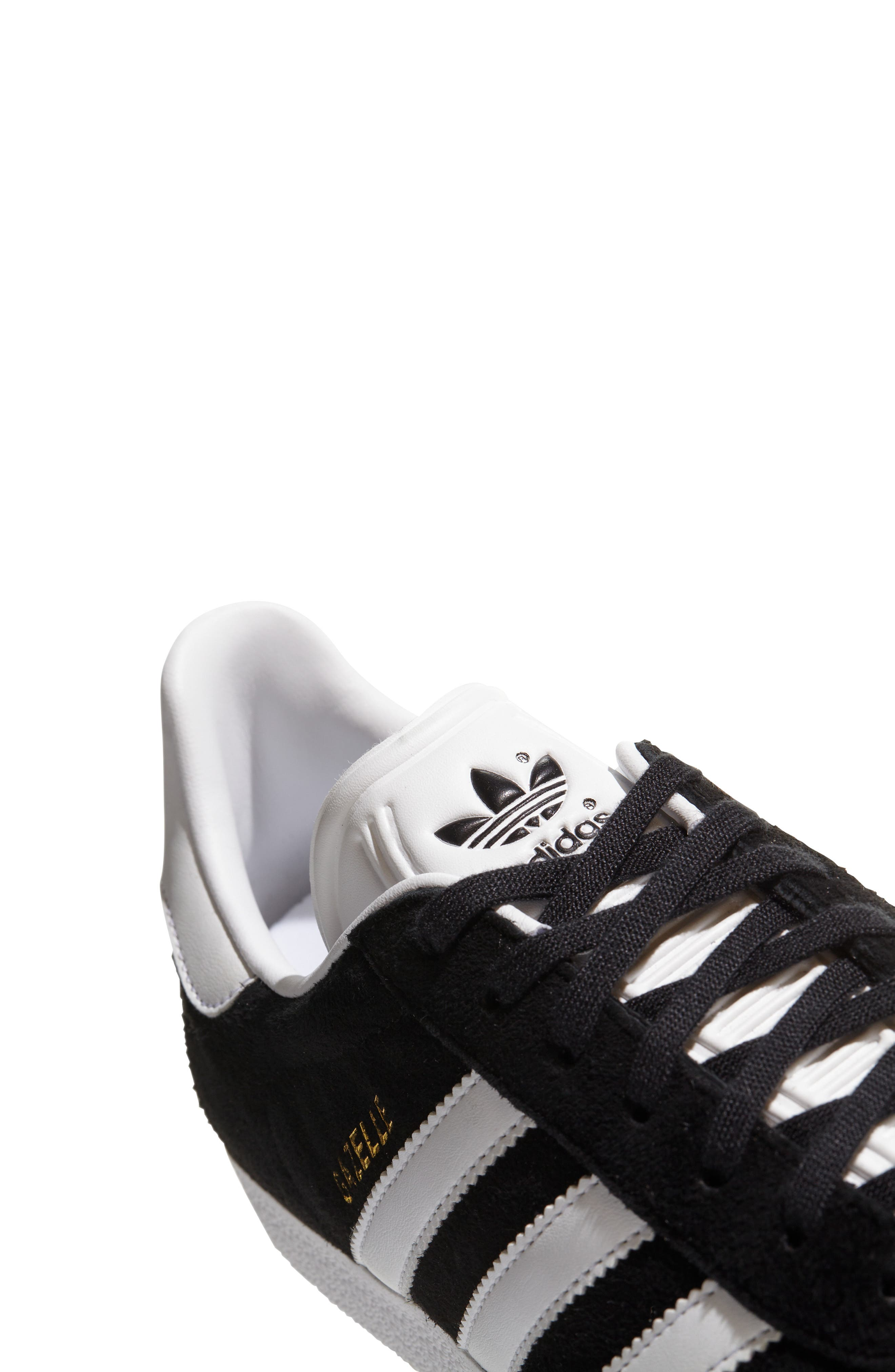 ADIDAS, Gazelle Sneaker, Alternate thumbnail 6, color, 003