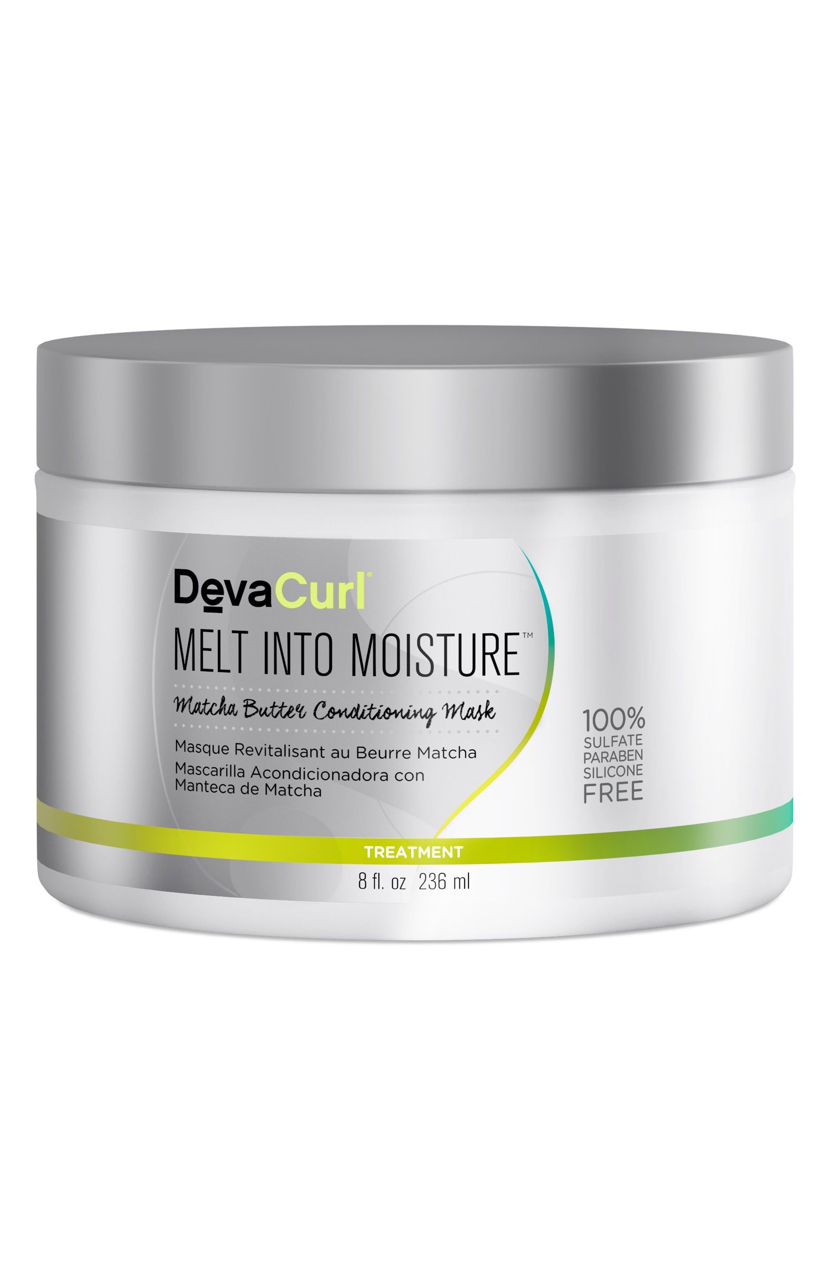DEVACURL, Melt Into Moisture Matcha Butter Conditioning Mask, Main thumbnail 1, color, NO COLOR