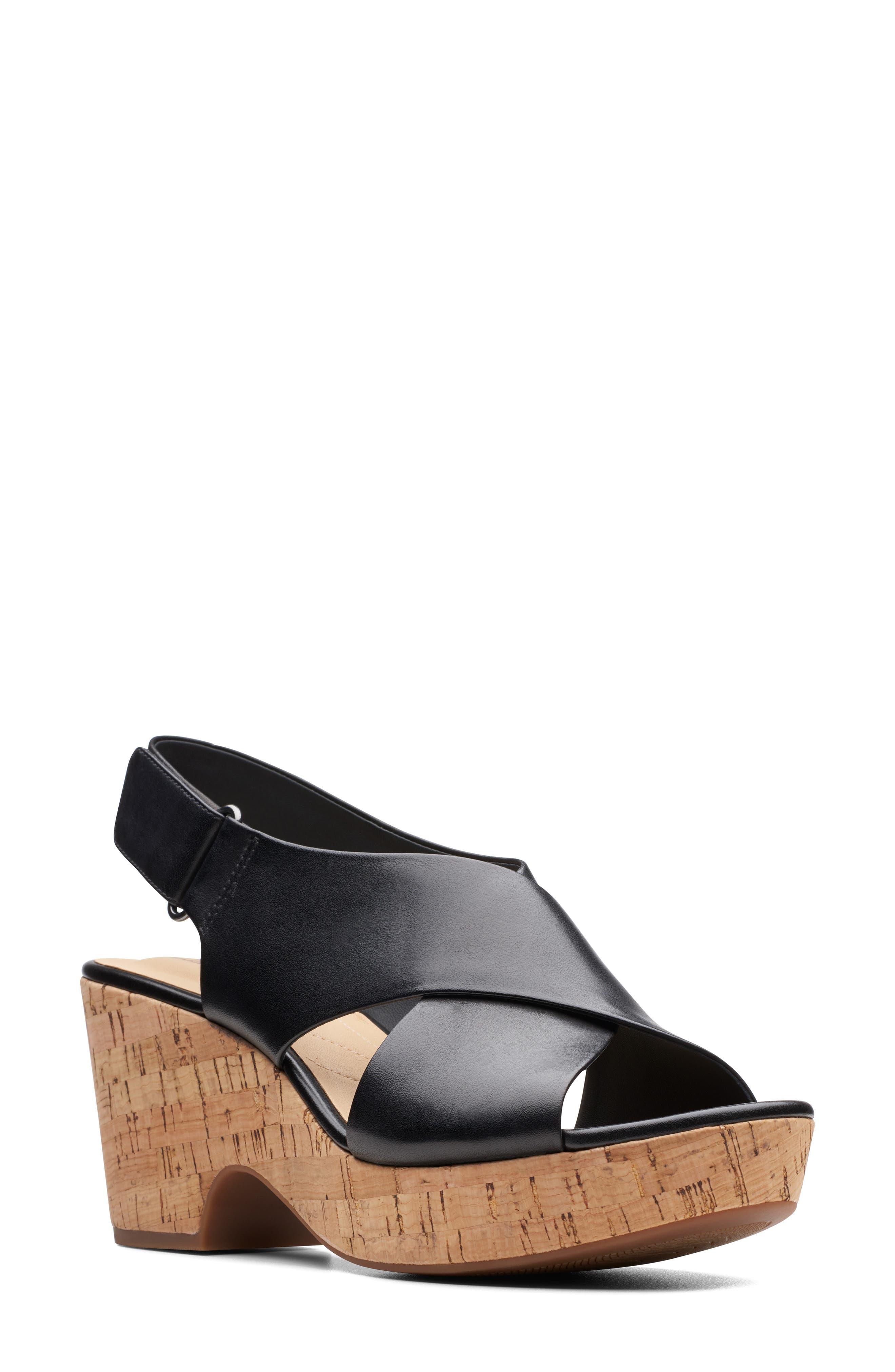 CLARKS<SUP>®</SUP> Maritsa Lara Slingback Sandal, Main, color, BLACK LEATHER