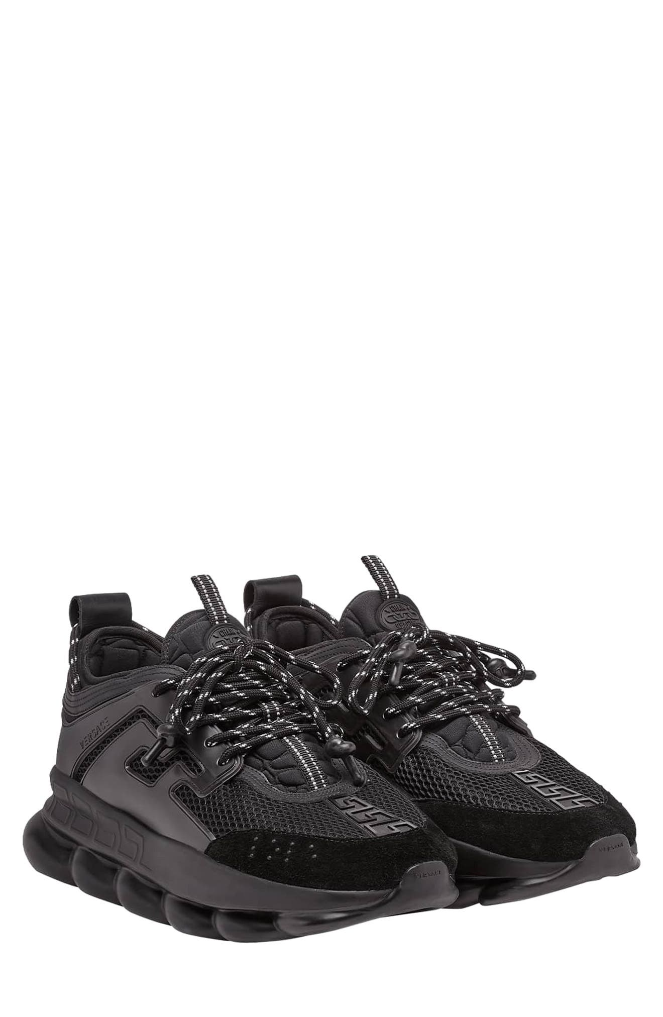 VERSACE FIRST LINE, Versace Chain Reaction Sneaker, Main thumbnail 1, color, NERO