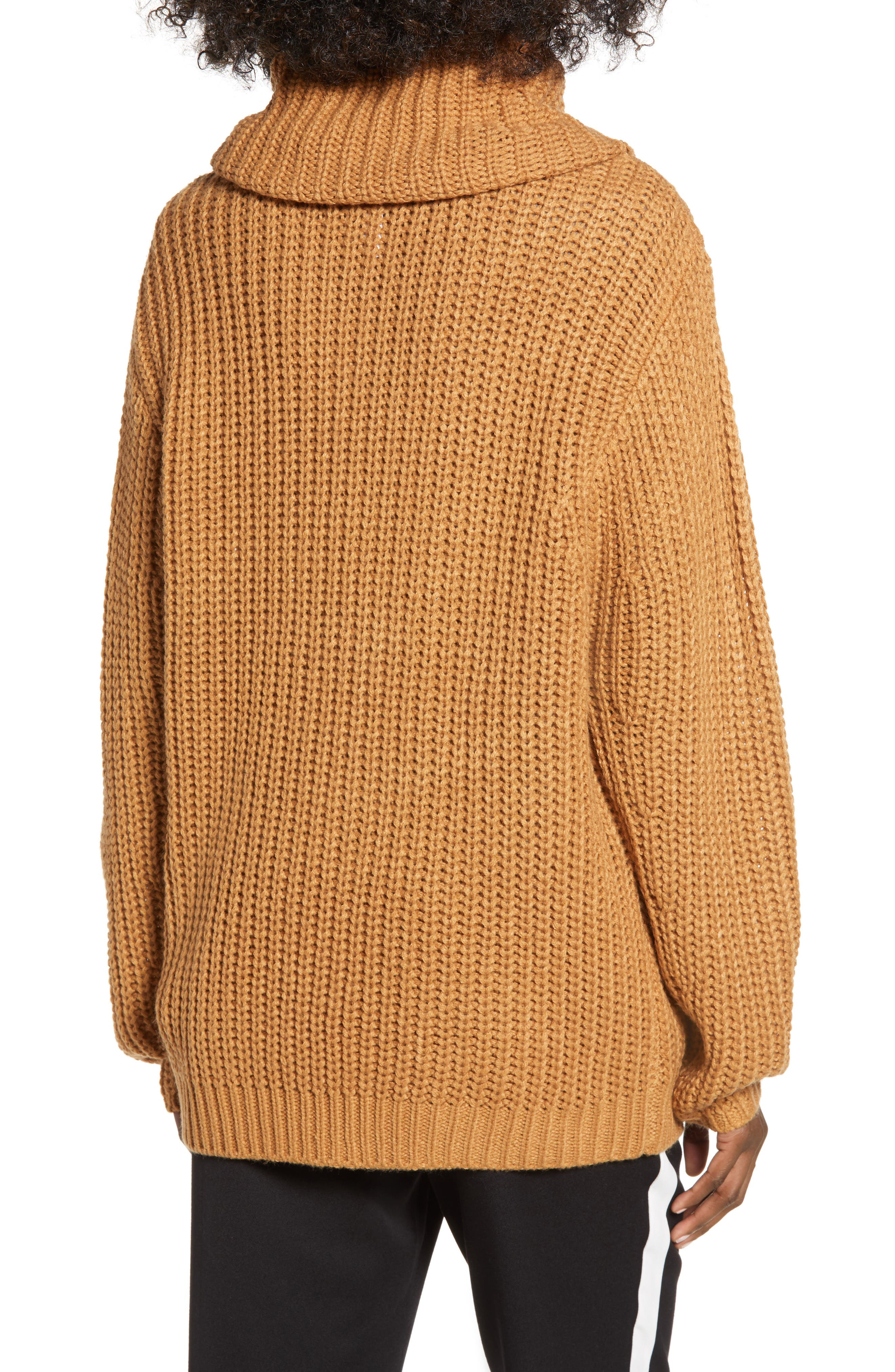 LEITH, Oversize Turtleneck Sweater, Alternate thumbnail 2, color, 235