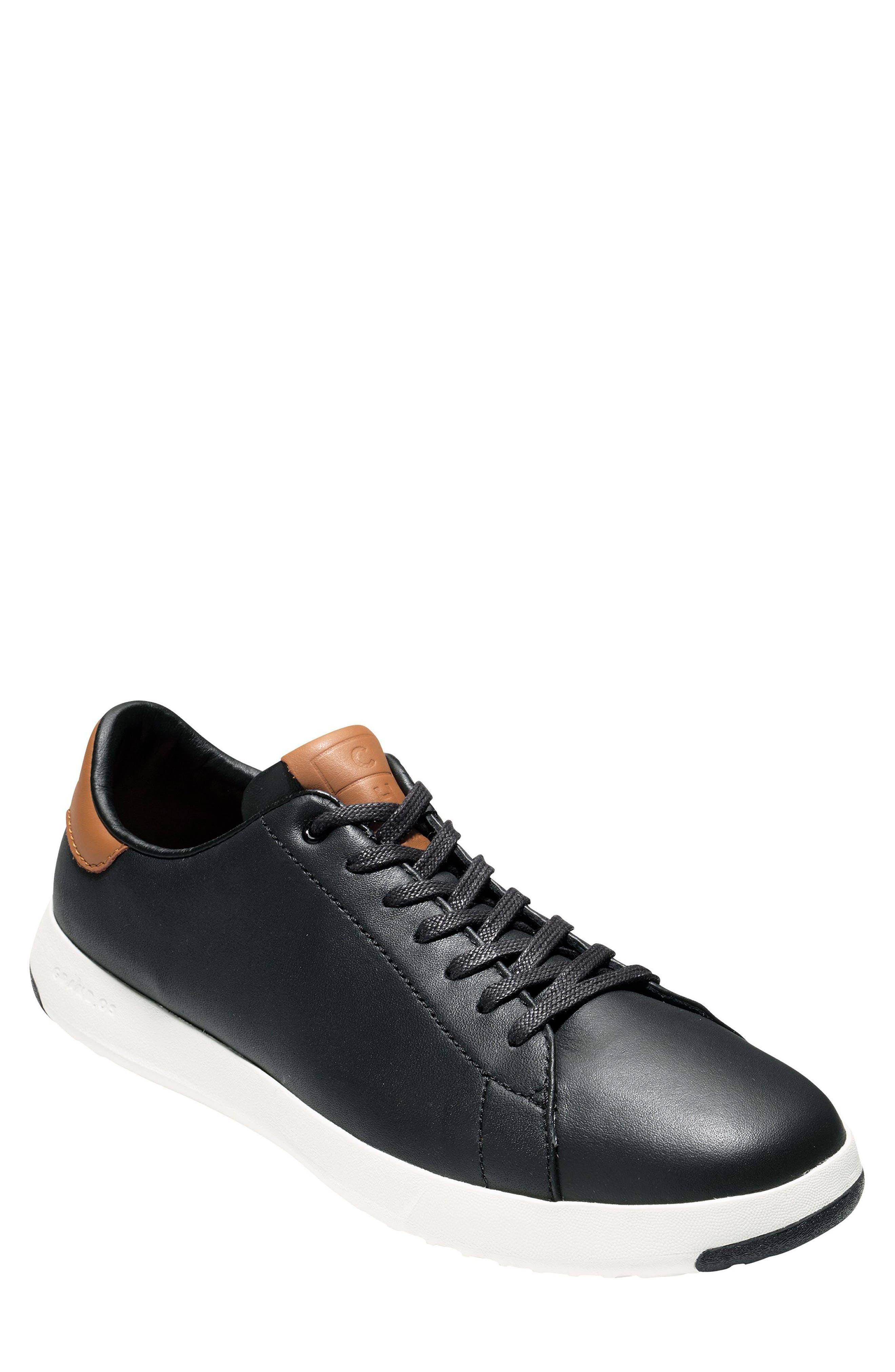 COLE HAAN, GrandPro Tennis Sneaker, Main thumbnail 1, color, BLACK/ BRITISH TAN
