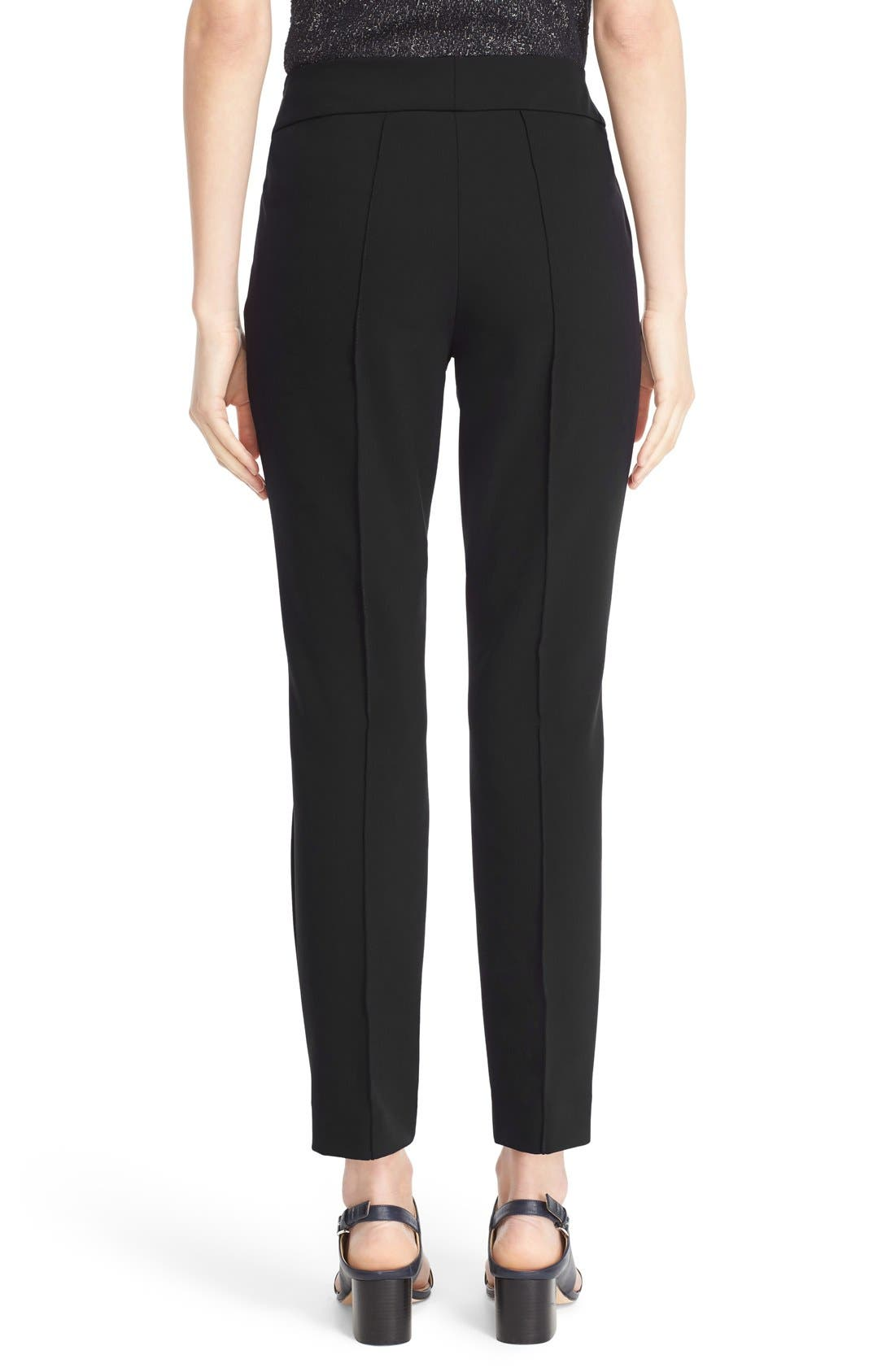 LAFAYETTE 148 NEW YORK, 'Gramercy' Acclaimed Stretch Pants, Alternate thumbnail 6, color, BLACK