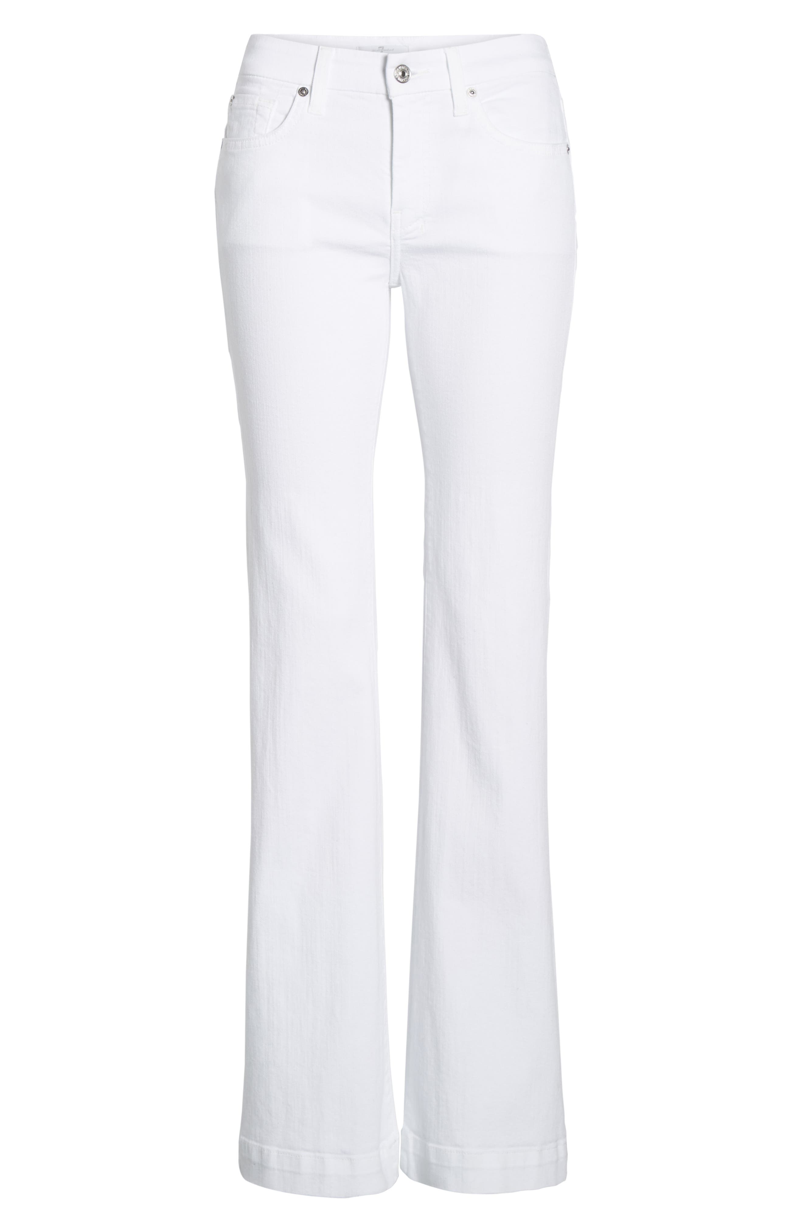 7 FOR ALL MANKIND<SUP>®</SUP>, Dojo Flare Jeans, Alternate thumbnail 7, color, WHITE RUNWAY DENIM