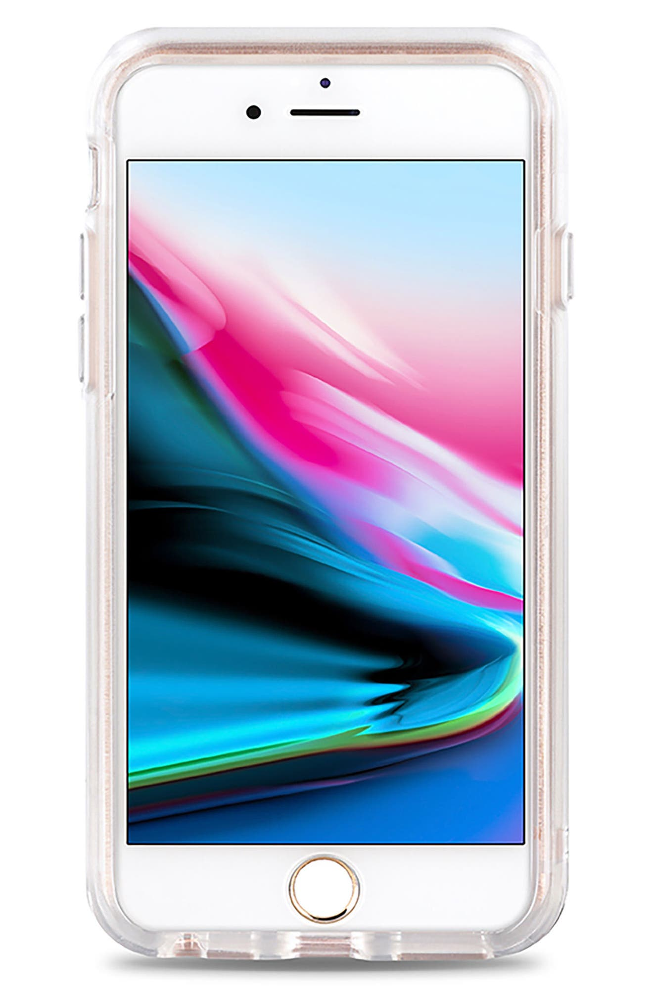 CASETIFY, Palm Fronds iPhone 7/8 & 7/8 Plus Case, Alternate thumbnail 3, color, GREEN