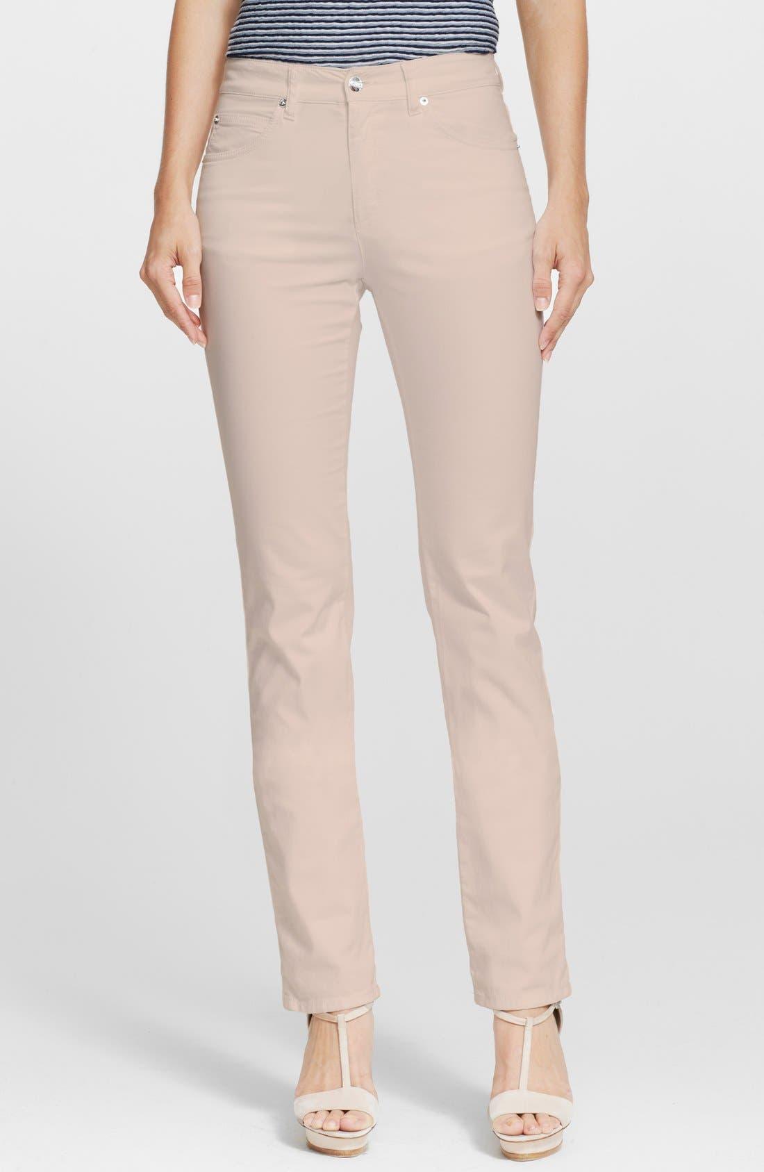 ARMANI COLLEZIONI Slim Brushed Cotton Jeans, Main, color, 272