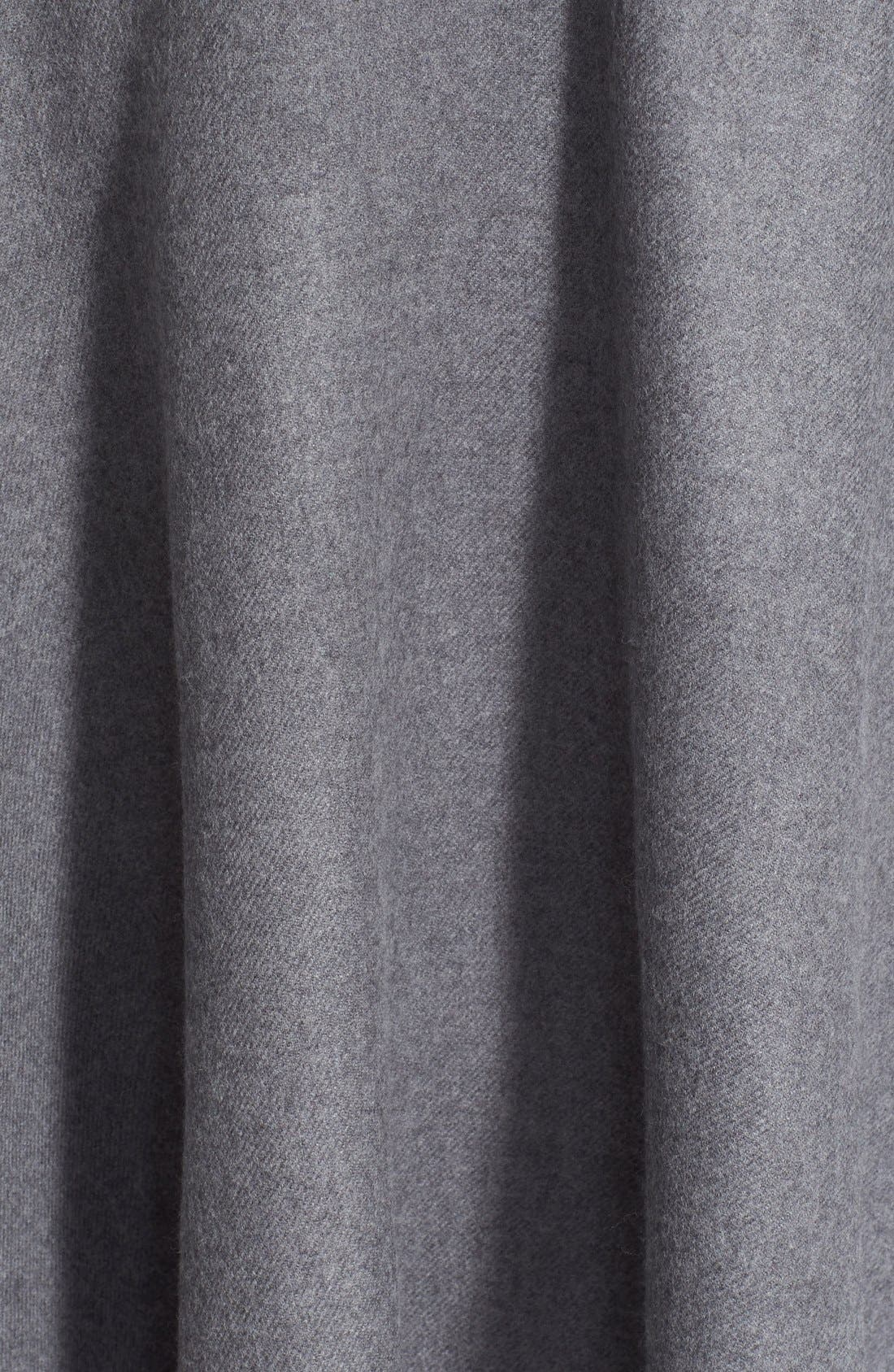 BURBERRY, Reversible Merino Wool Cape, Alternate thumbnail 3, color, 020