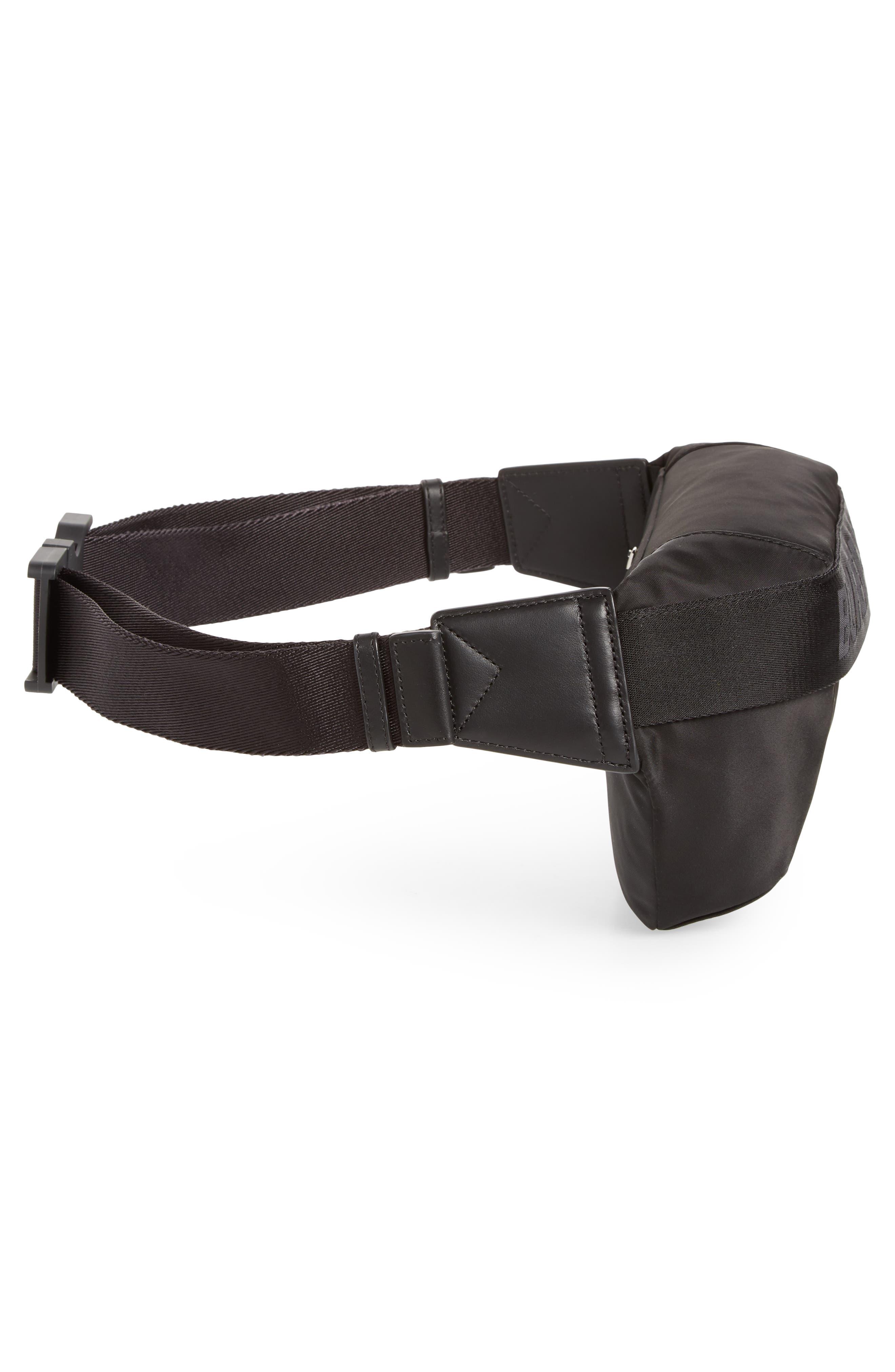 BURBERRY, Medium Sonny Logo Belt Bag, Alternate thumbnail 6, color, BLACK