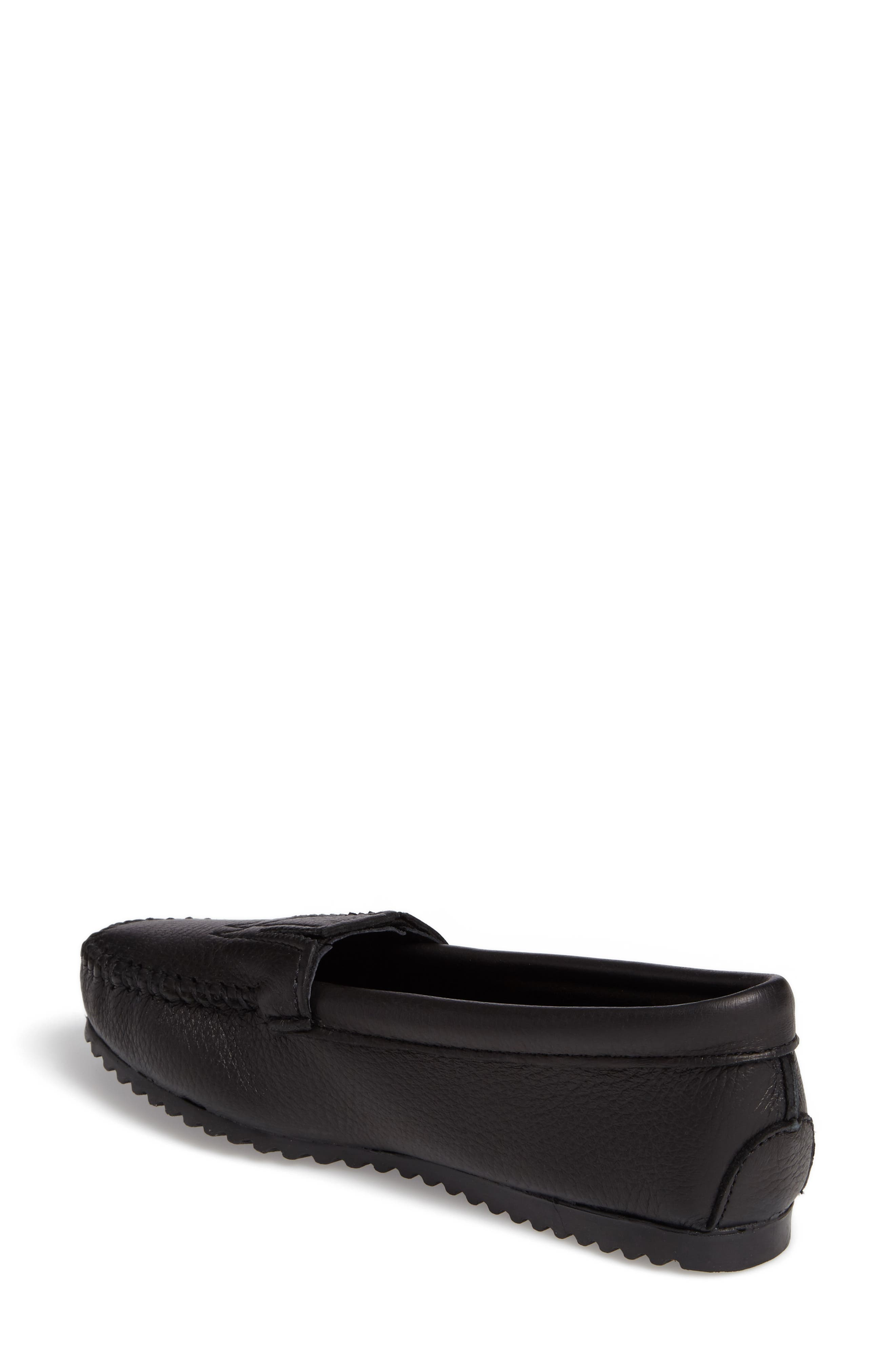 MINNETONKA, Moccasin, Alternate thumbnail 2, color, BLACK