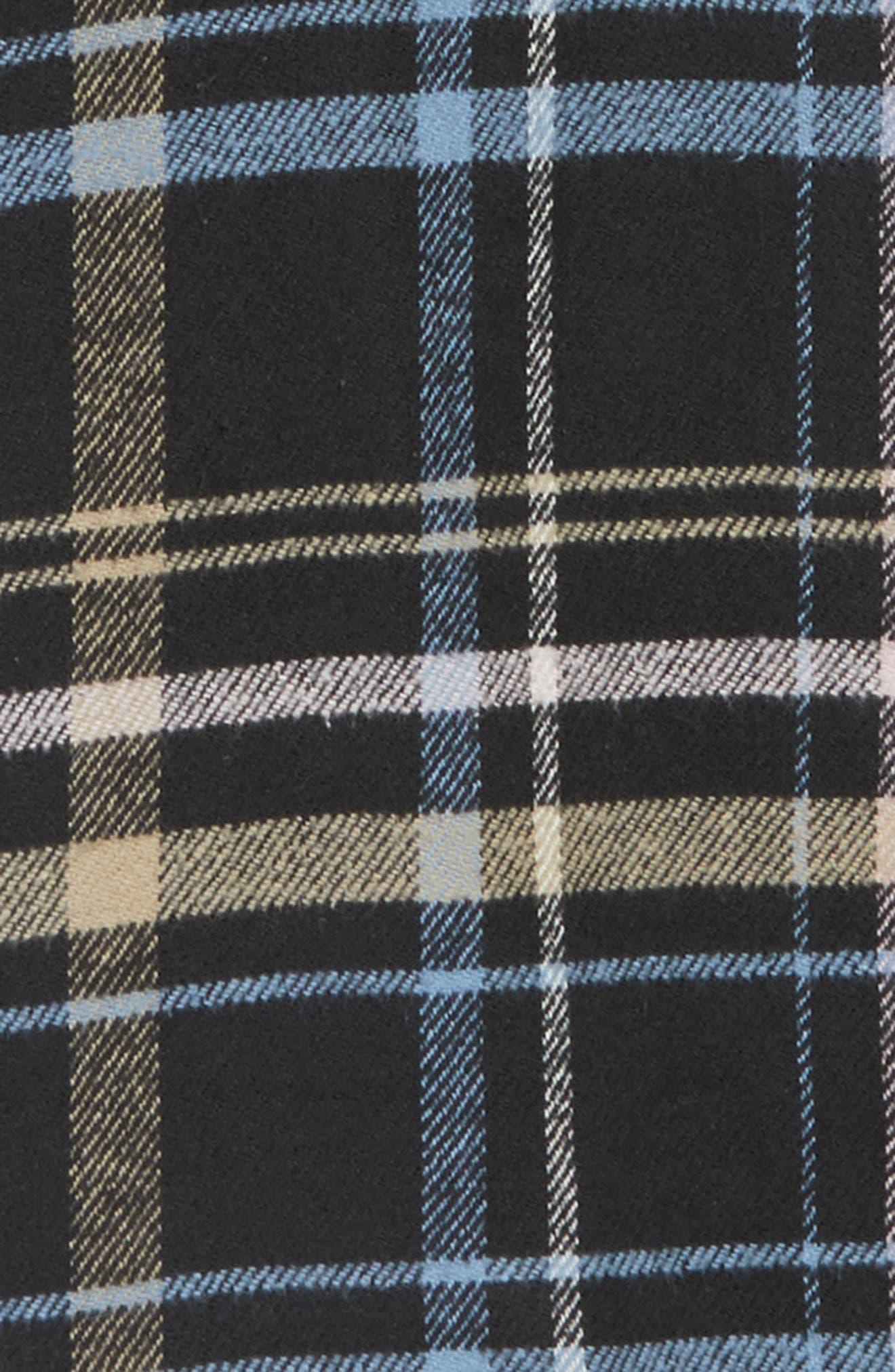 RVCA, Essex Hooded Flannel Shirt, Alternate thumbnail 6, color, RVCA BLACK