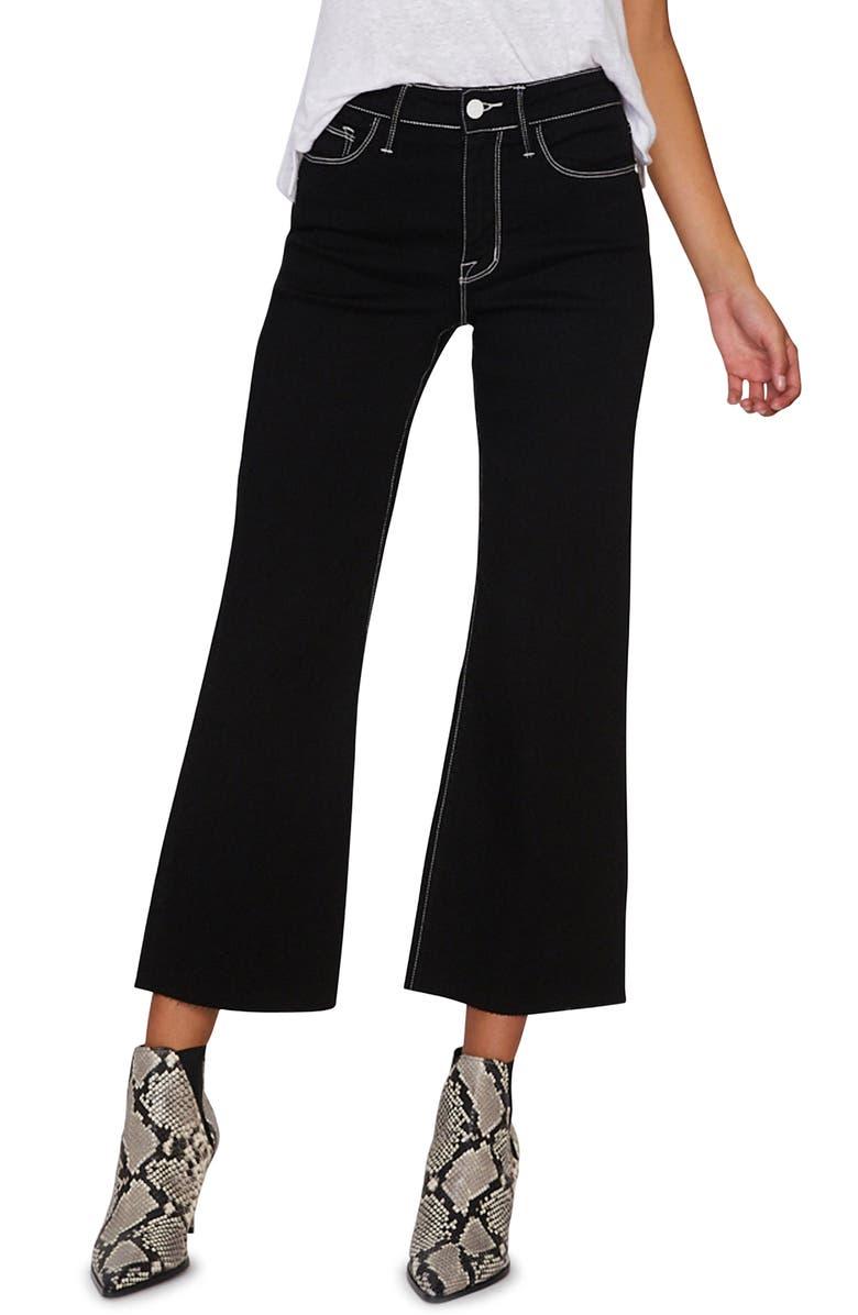 Sanctuary Jeans Non Comformist Contrast Stitch Wide Leg Crop Jeans