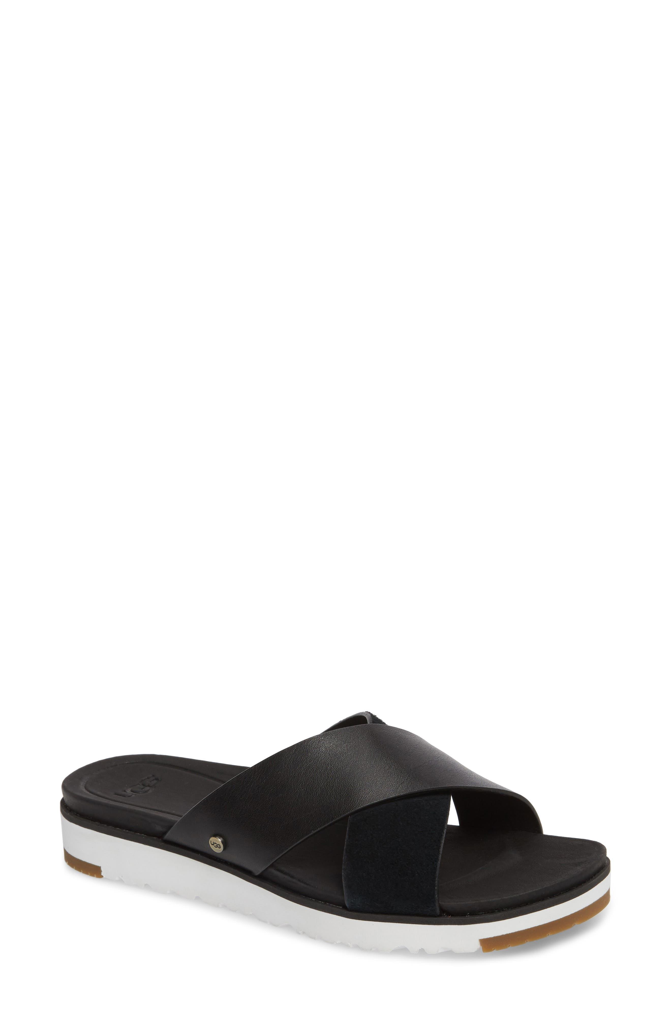 UGG<SUP>®</SUP>, 'Kari' Sandal, Main thumbnail 1, color, BLACK