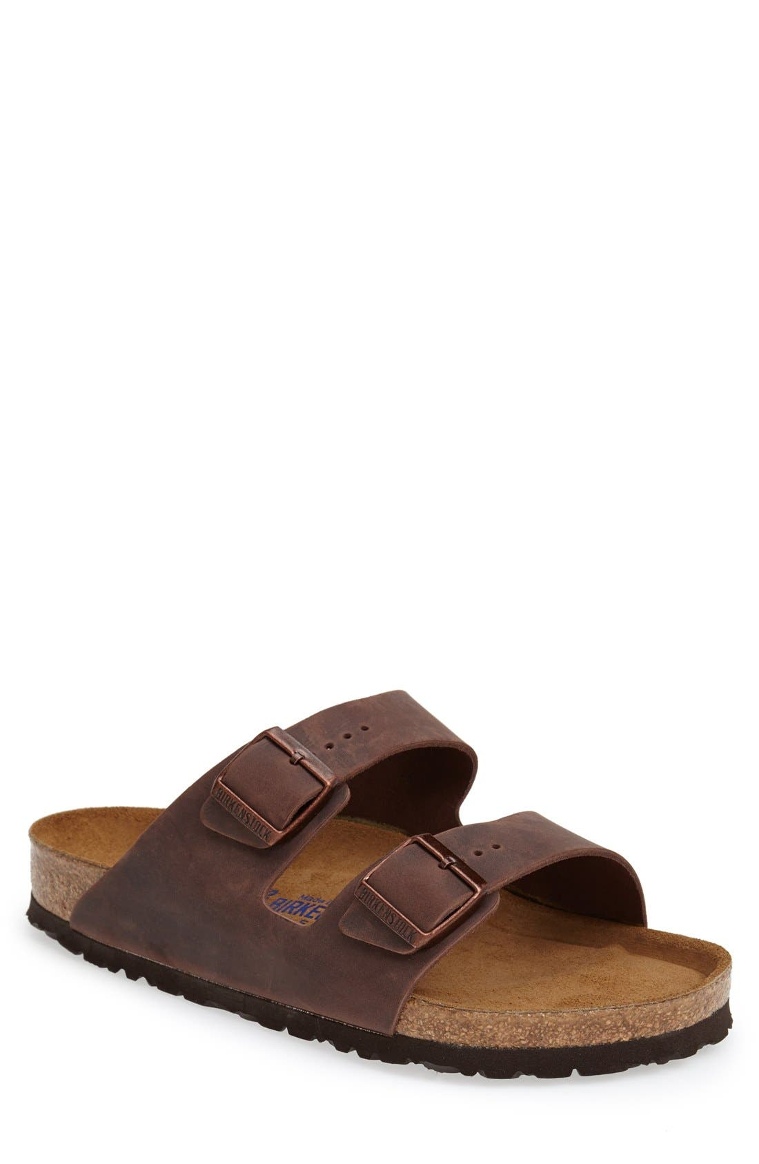 BIRKENSTOCK, Arizona Soft Slide Sandal, Main thumbnail 1, color, HABANA