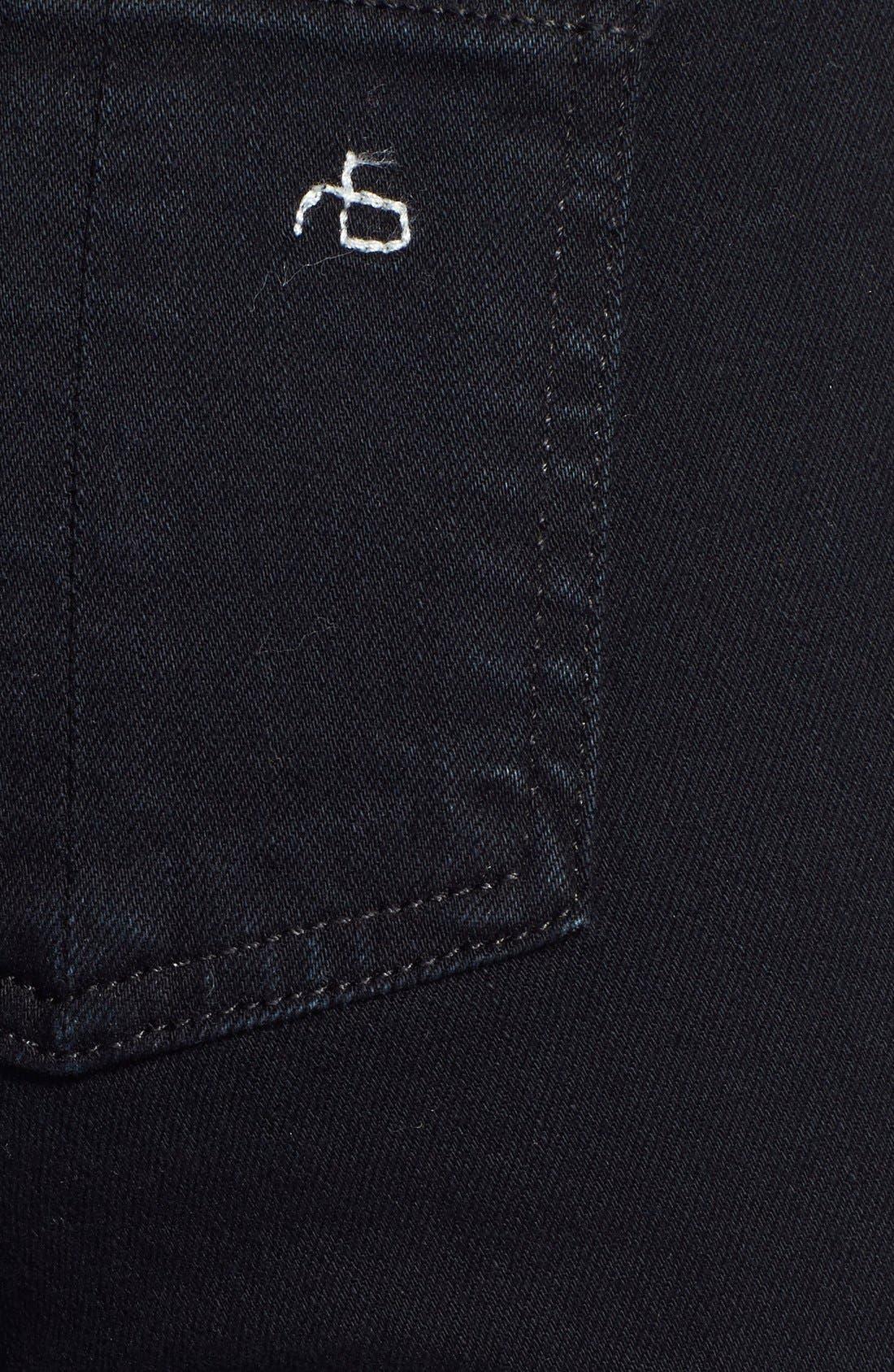 RAG & BONE, 'The Skinny' Stretch Jeans, Alternate thumbnail 10, color, COAL