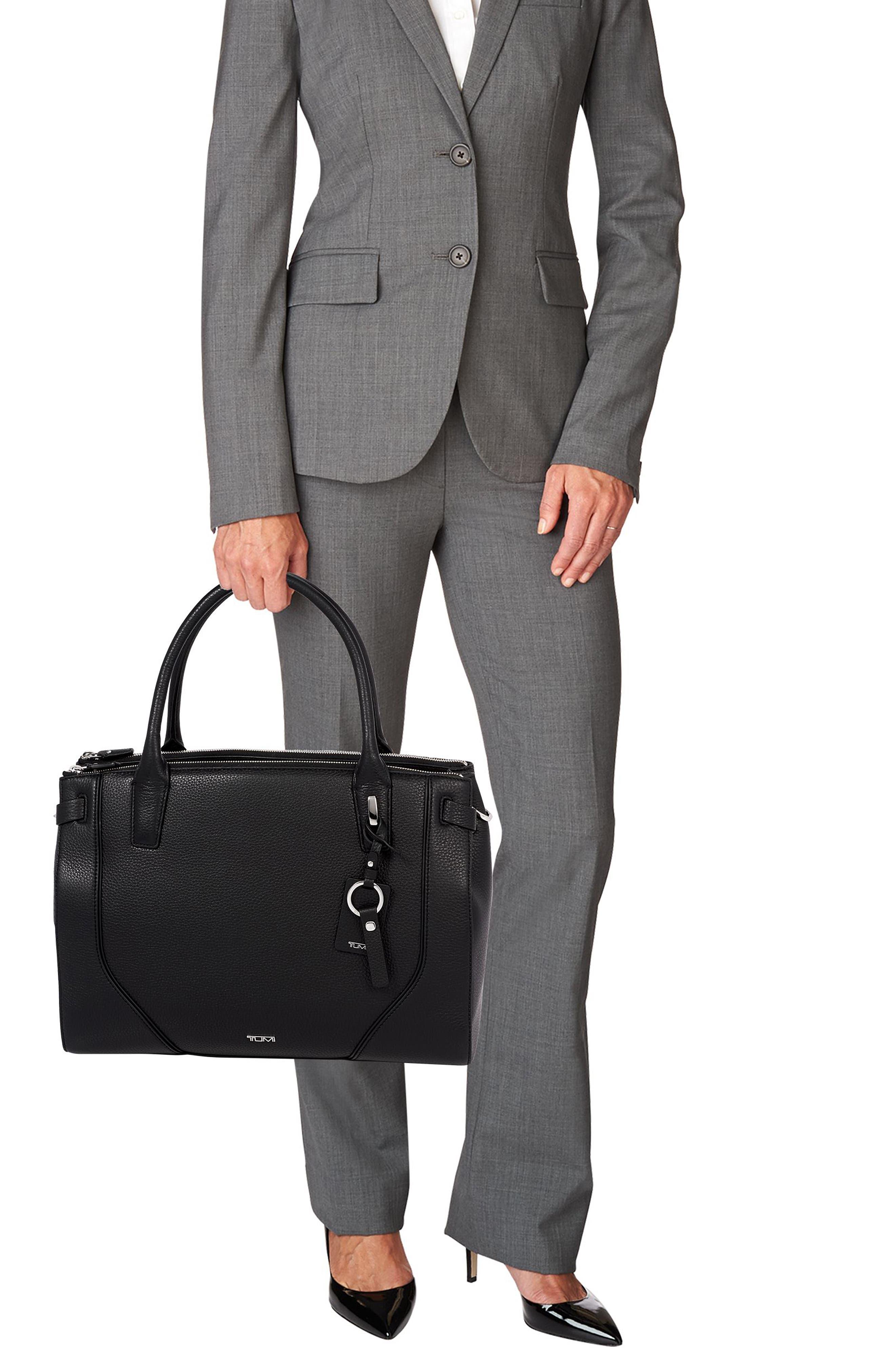 TUMI, Stanton Kiran Leather Laptop Briefcase, Alternate thumbnail 2, color, BLACK