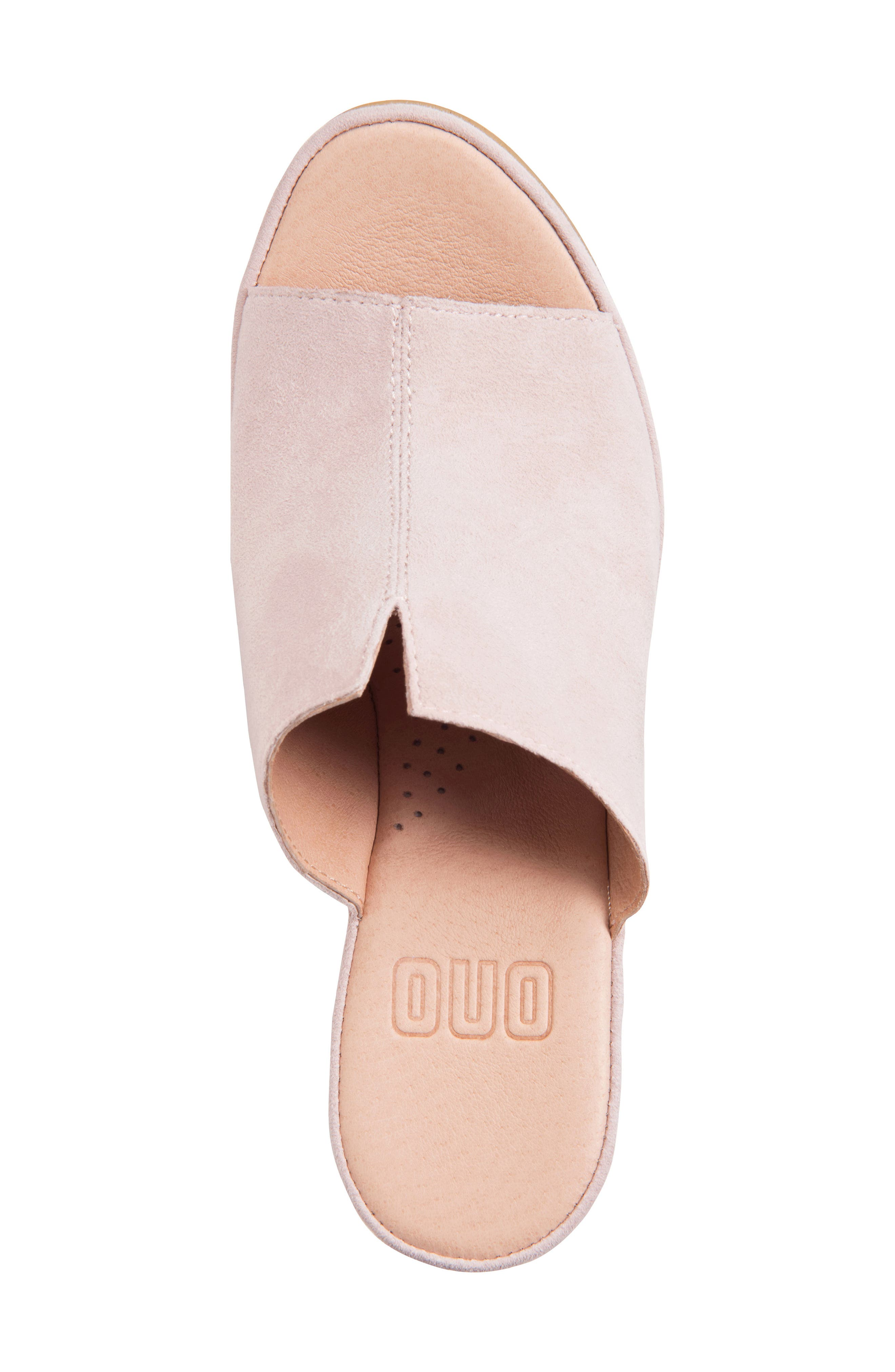 ONO, Hannah Wedge Mule, Alternate thumbnail 5, color, LIGHT PINK SUEDE