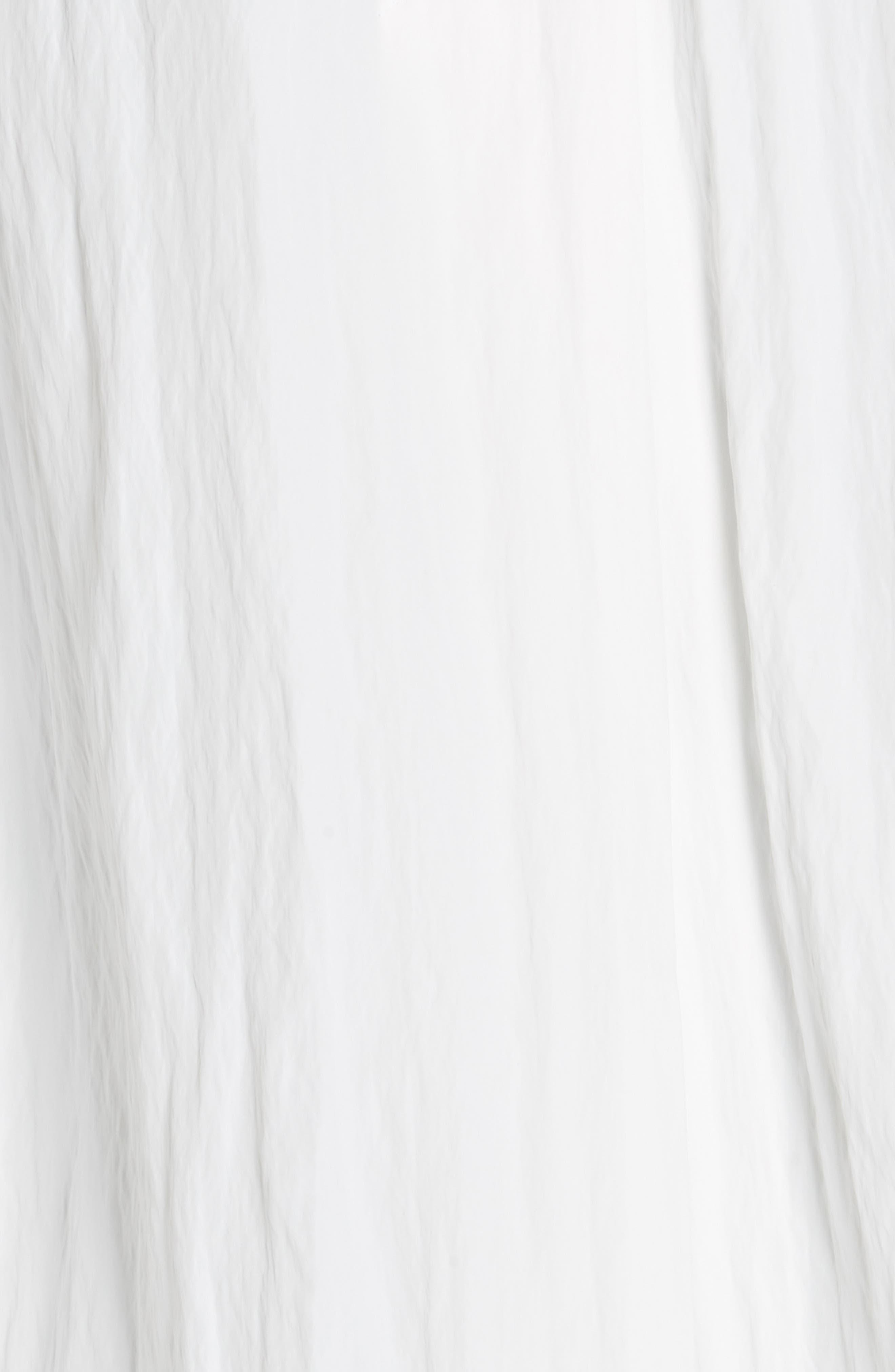 HELMUT LANG, Boiler Trench Coat, Alternate thumbnail 6, color, WHITE