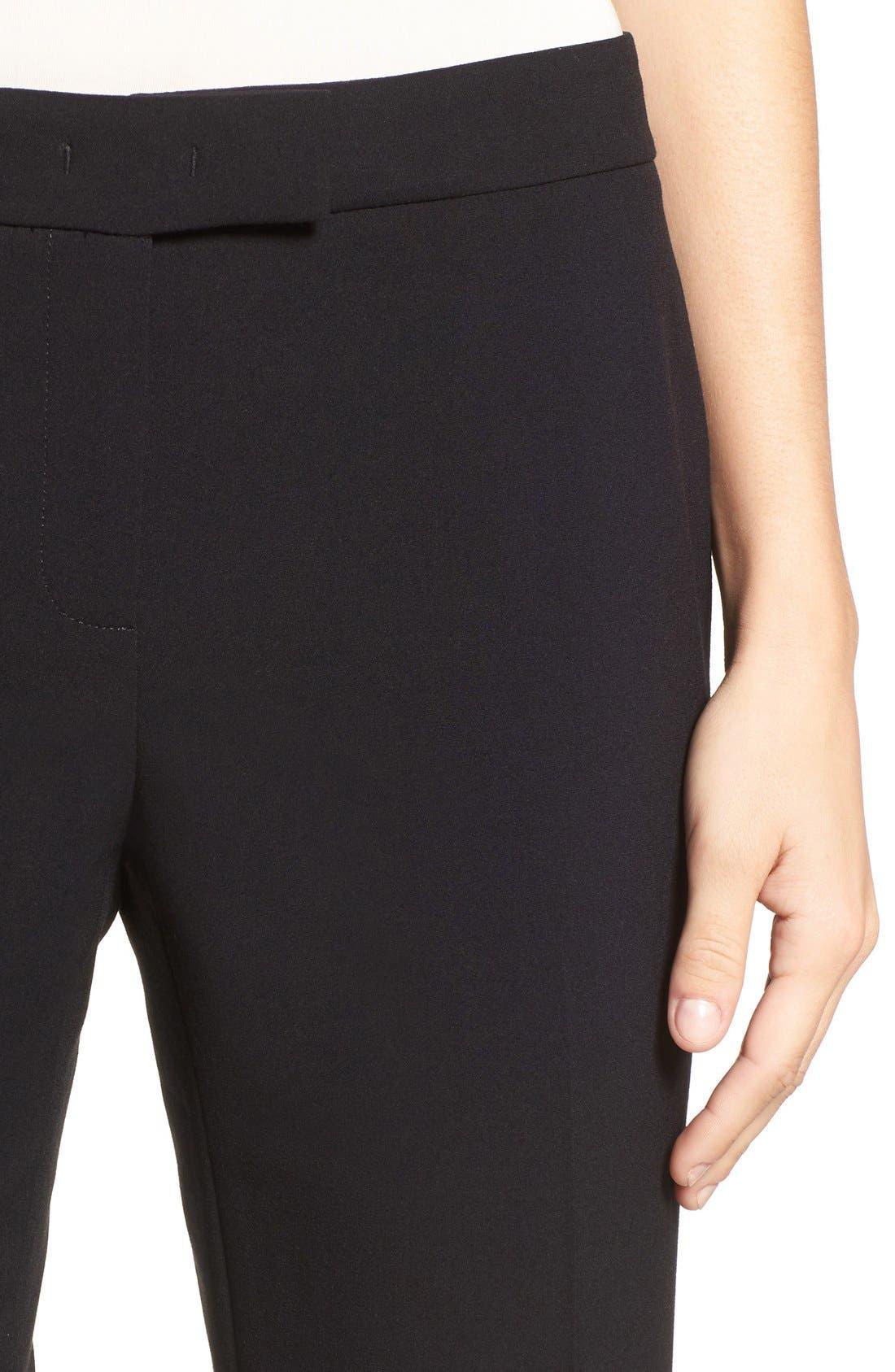 ANNE KLEIN, Slim Suit Pants, Alternate thumbnail 6, color, 001