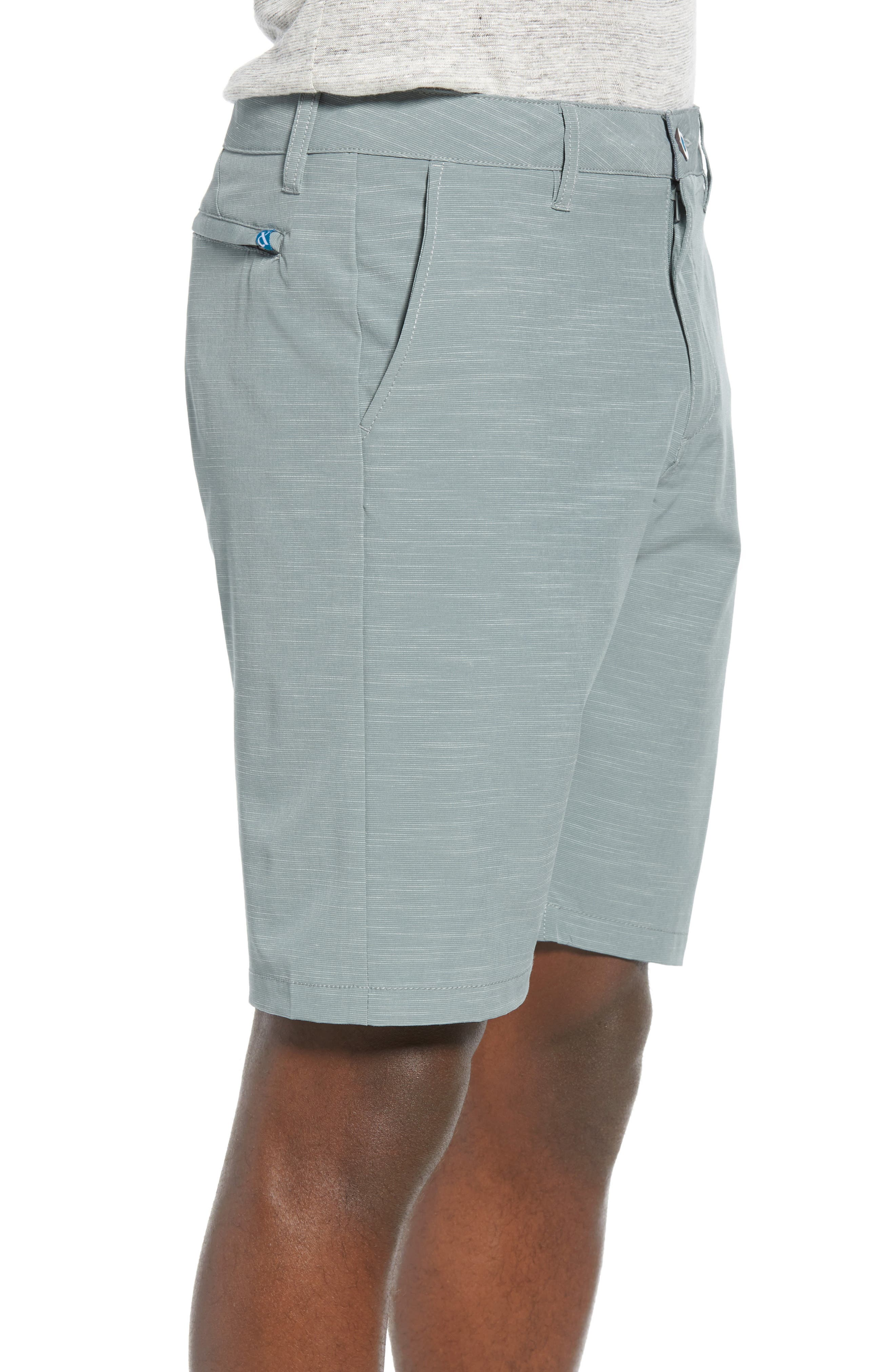 DEVEREUX, Cruiser Hybrid Shorts, Alternate thumbnail 3, color, SMOKE GREEN