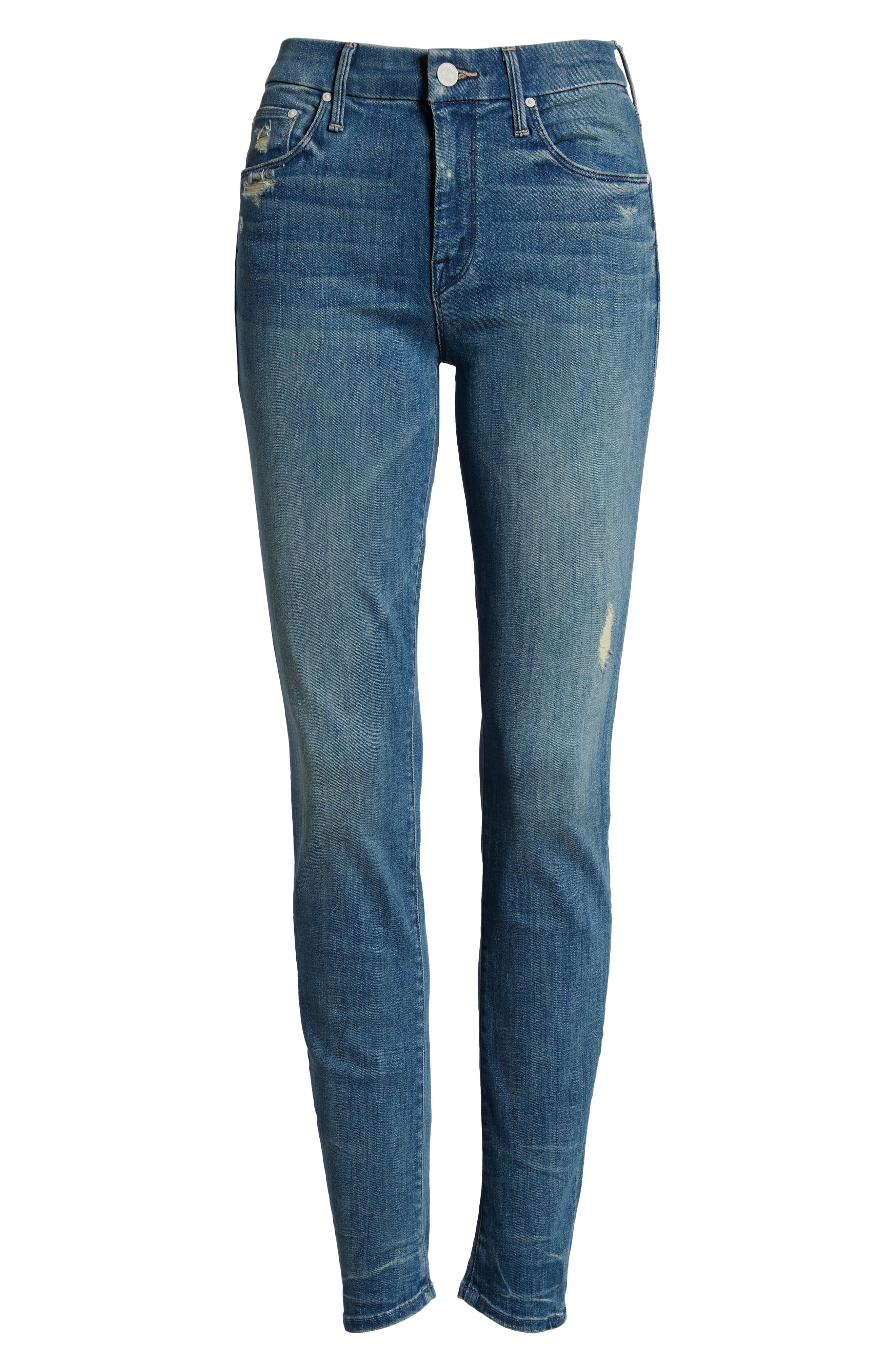 MOTHER, 'The Looker' Skinny Stretch Jeans, Alternate thumbnail 2, color, GRAFFITI GIRL