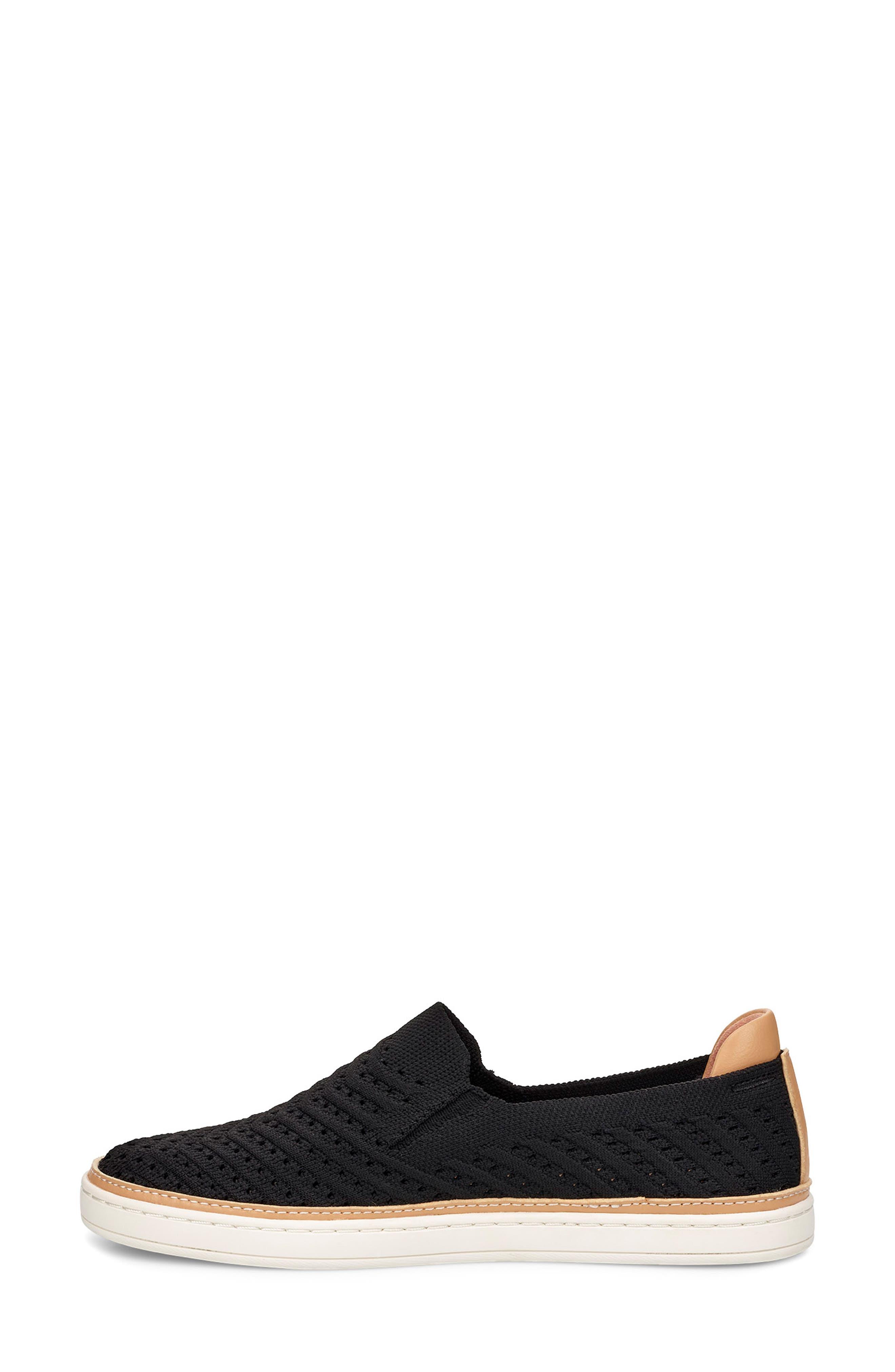 UGG<SUP>®</SUP>, Sammy Slip-On Sneaker, Alternate thumbnail 6, color, BLACK FABRIC