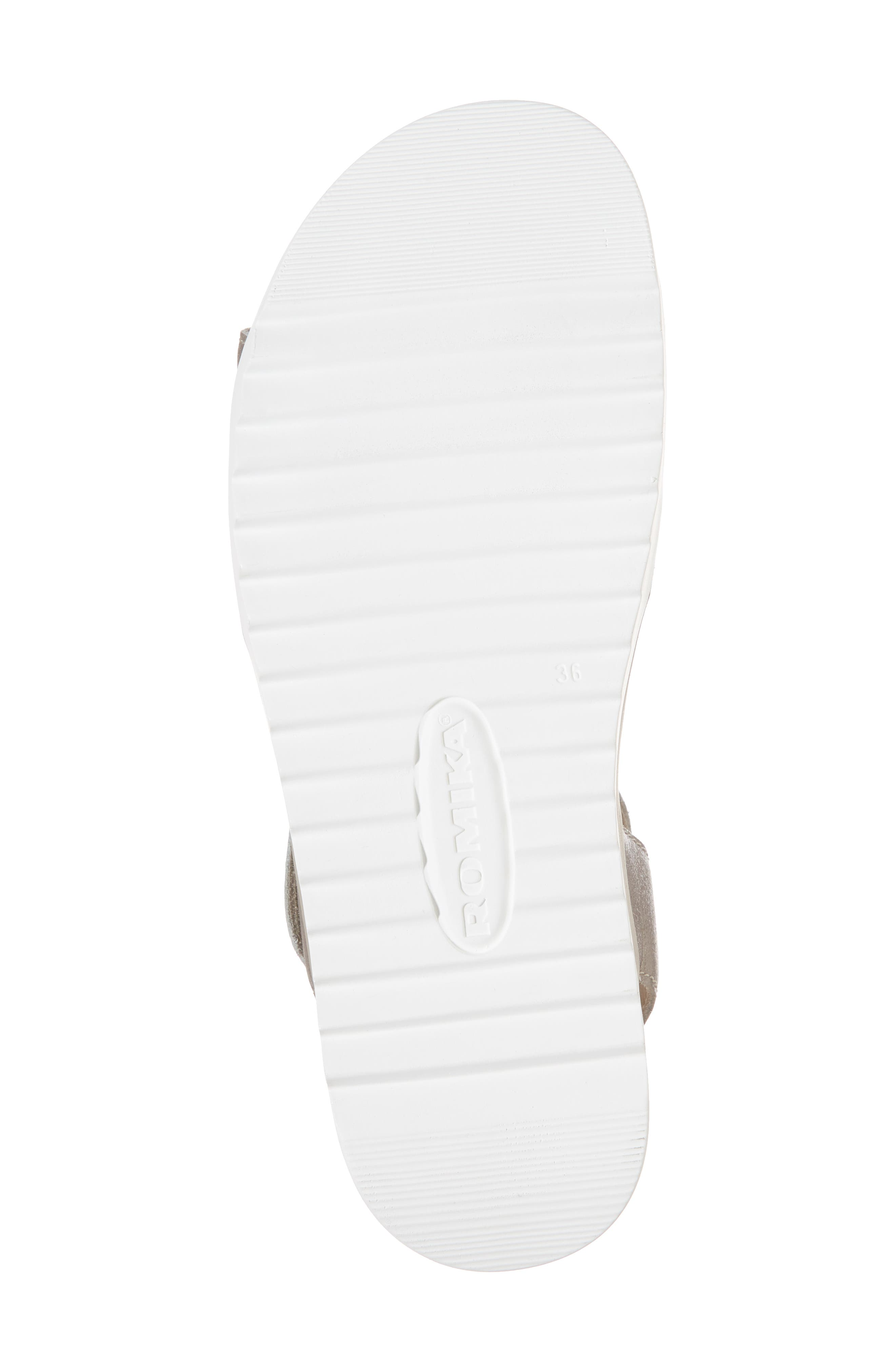 ROMIKA<SUP>®</SUP>, Hollywood 04 Sandal, Alternate thumbnail 6, color, PLATINUM LEATHER