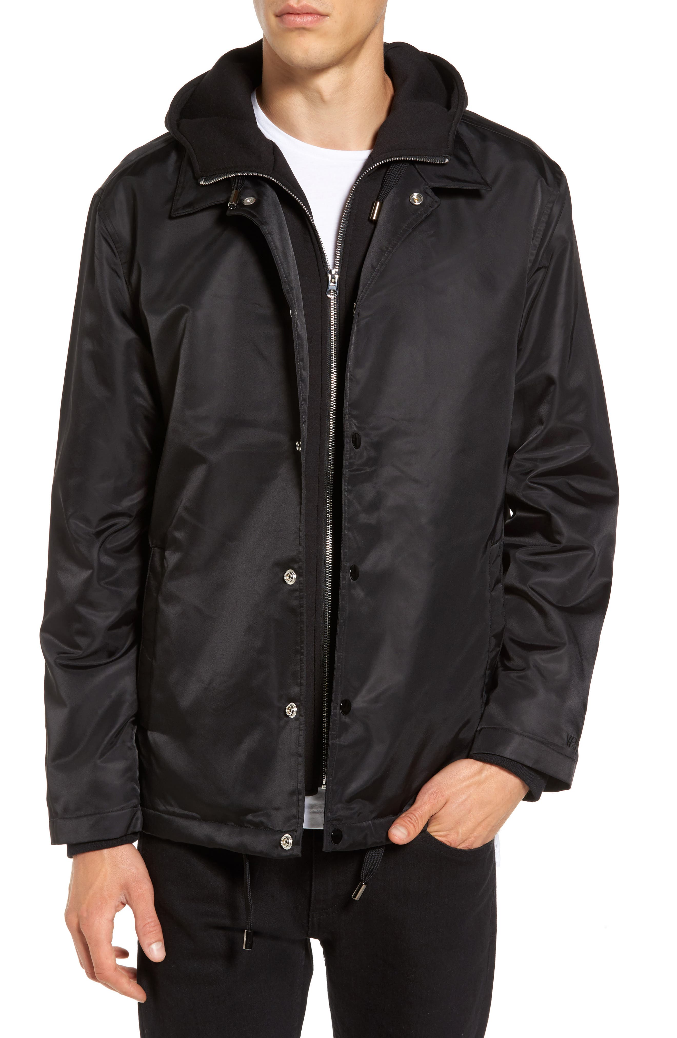 THE VERY WARM Yorkshire Hooded Coach's Jacket, Main, color, 001