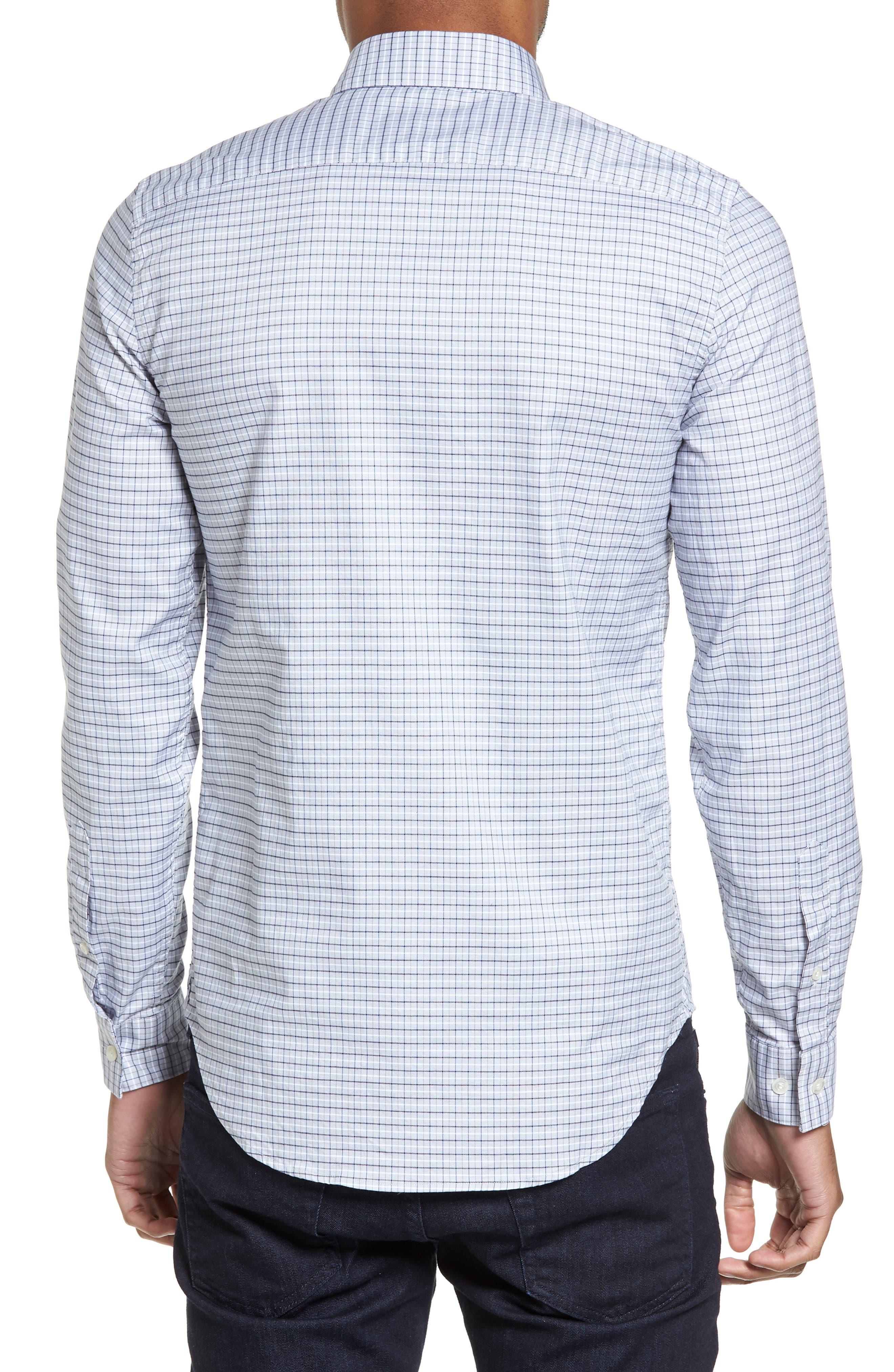 LACOSTE, Slim Fit Plaid Shirt, Alternate thumbnail 2, color, 061